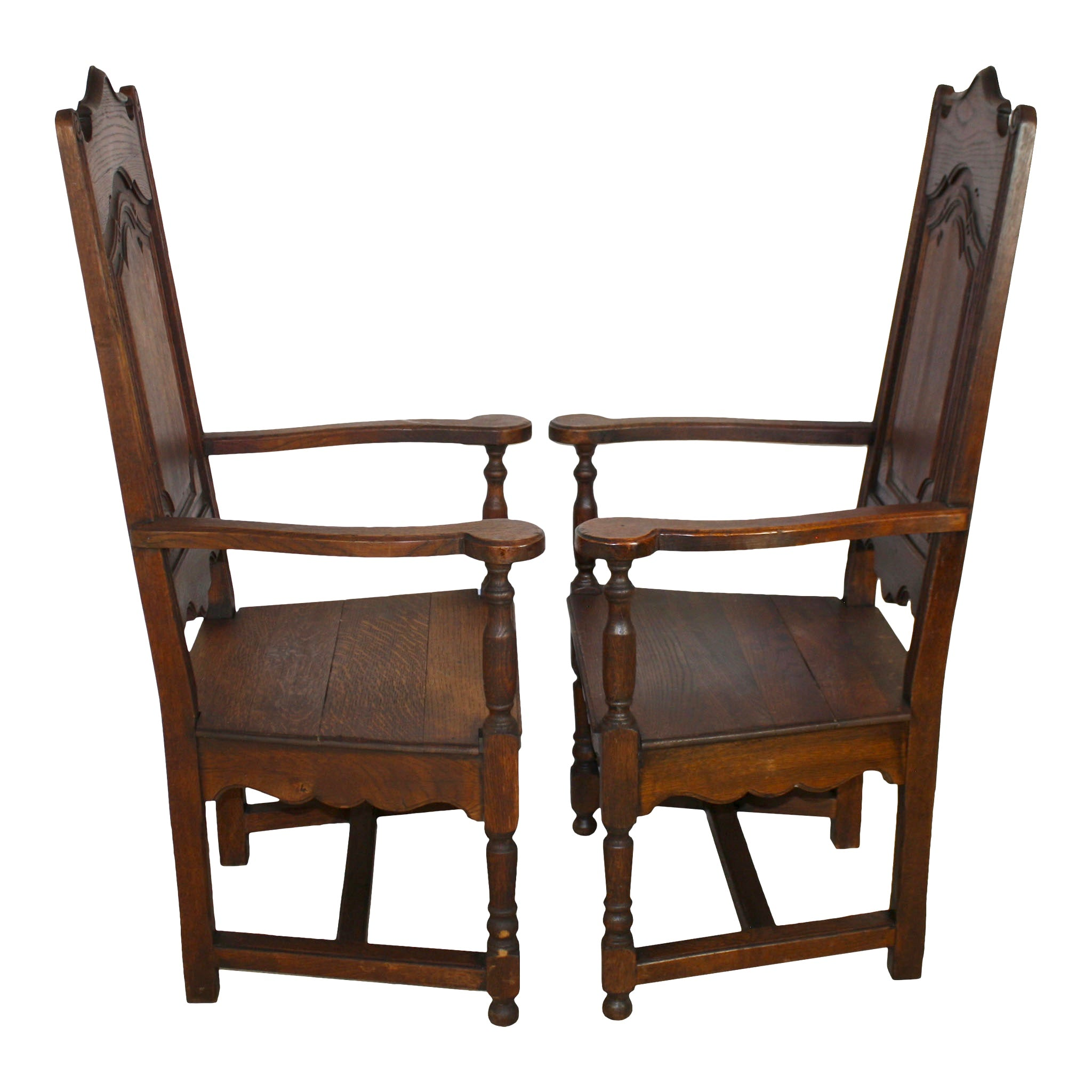 High Back Farm Chairs Set of Two