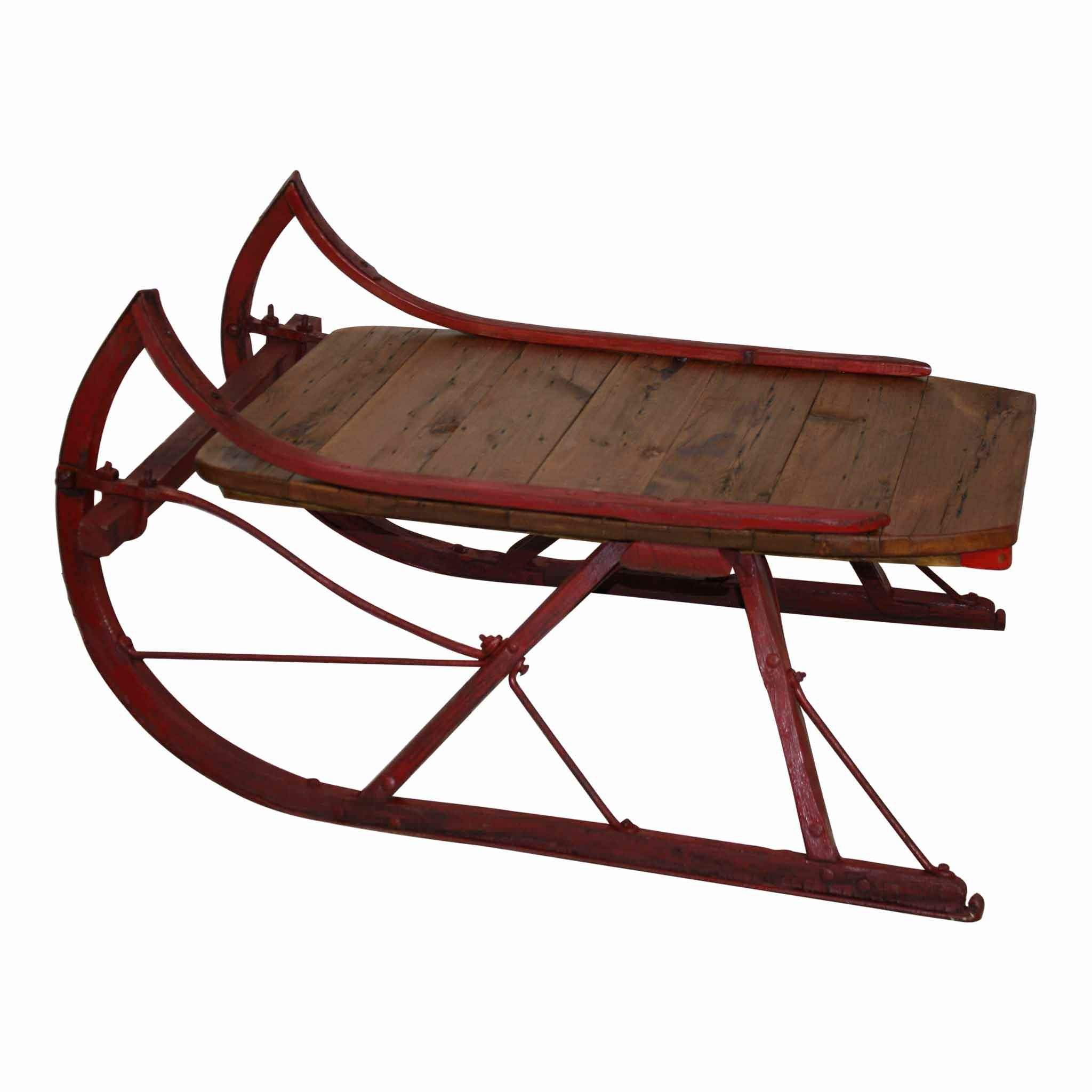 Sleigh Coffee Table Part - 48: Sleigh Coffee Table With Red Runners