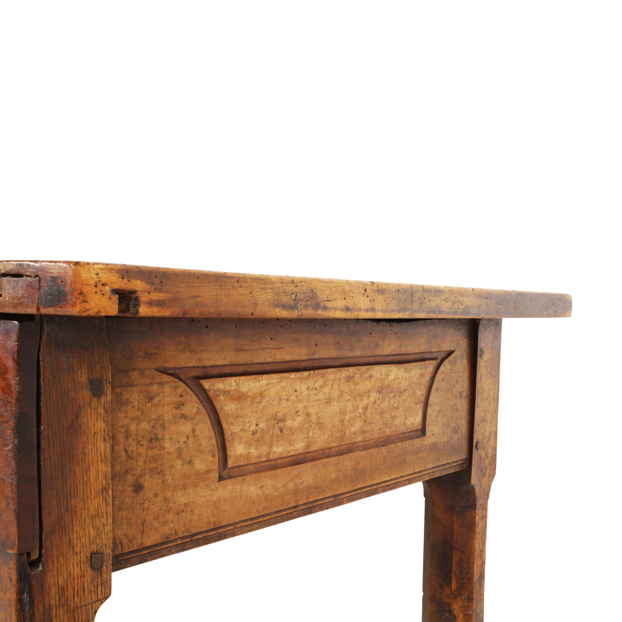 ski-country-antiques - Walnut Farm Table