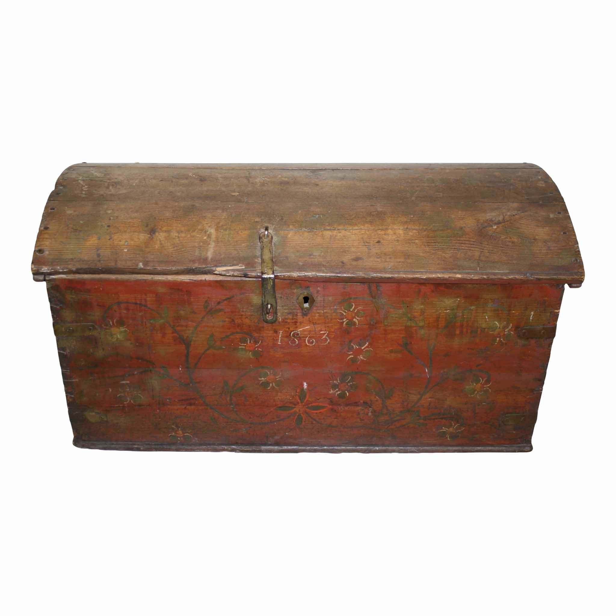 Red Painted Trunk