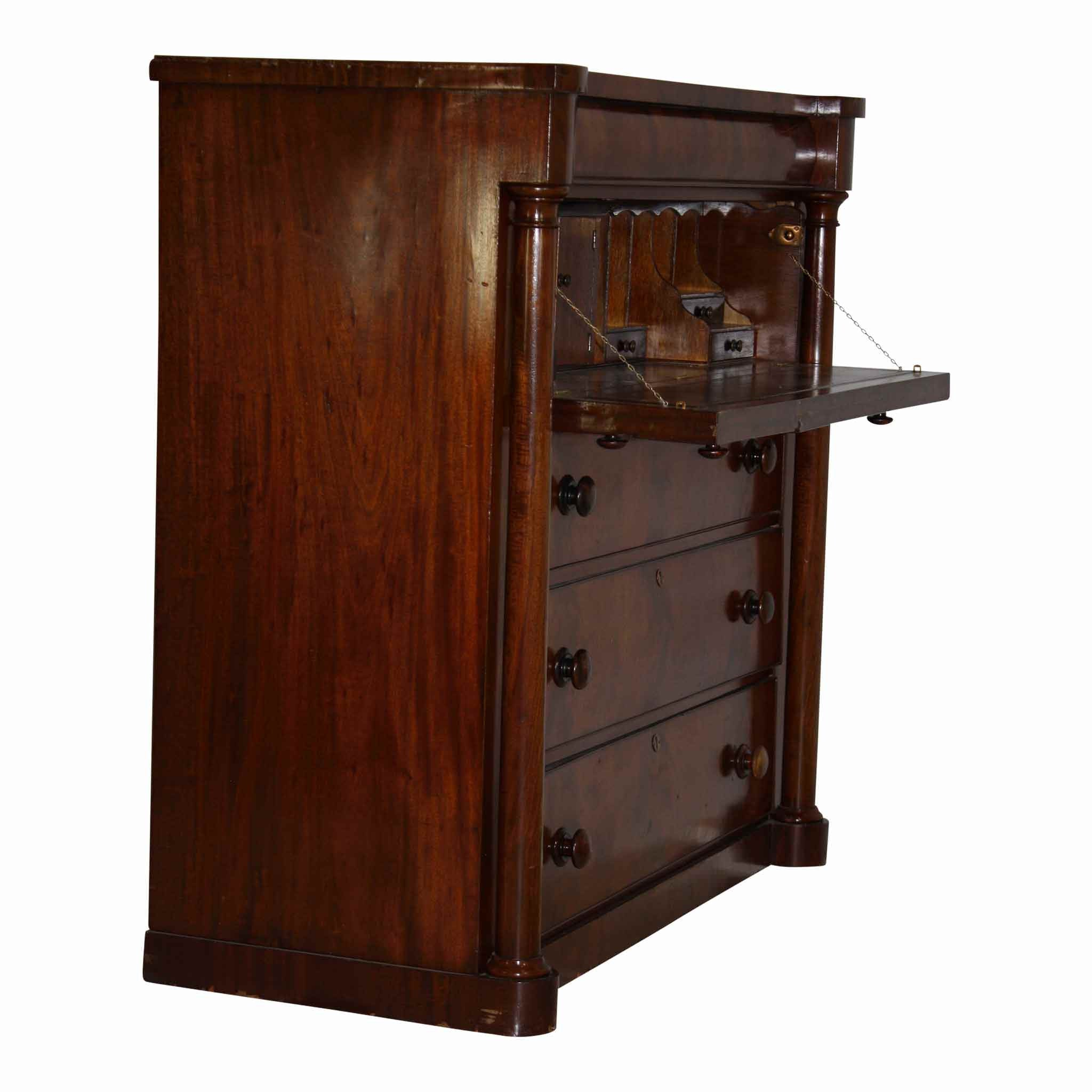 English Mahogany Drop Leaf Desk