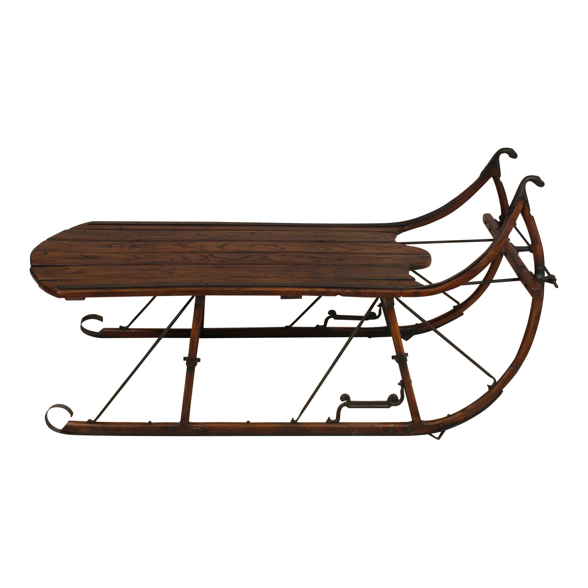 Sleigh Coffee Table with Short Runners