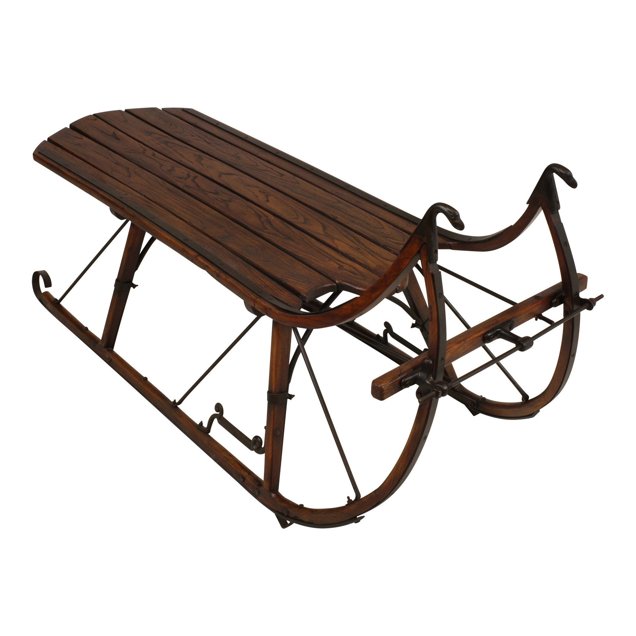 ski-country-antiques - Sleigh Coffee Table with Short Runners