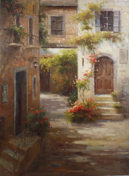 "Kwan Ran (Laura) European Alley in Summer 30"" x 40"""