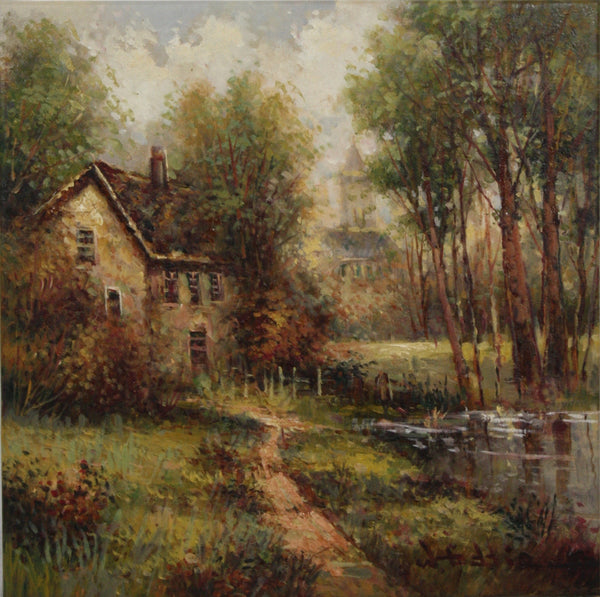 "W. Eddie Church Landscape 16"" x 16"""