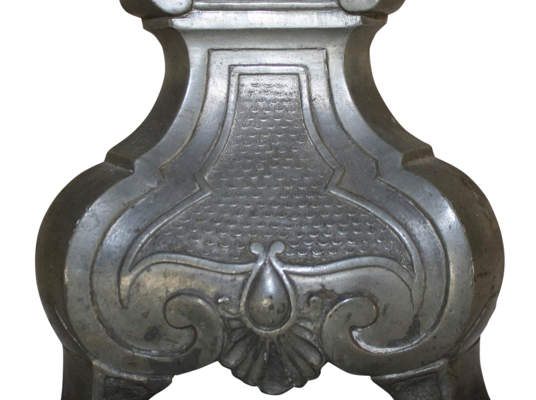 French Pewter Candlestick
