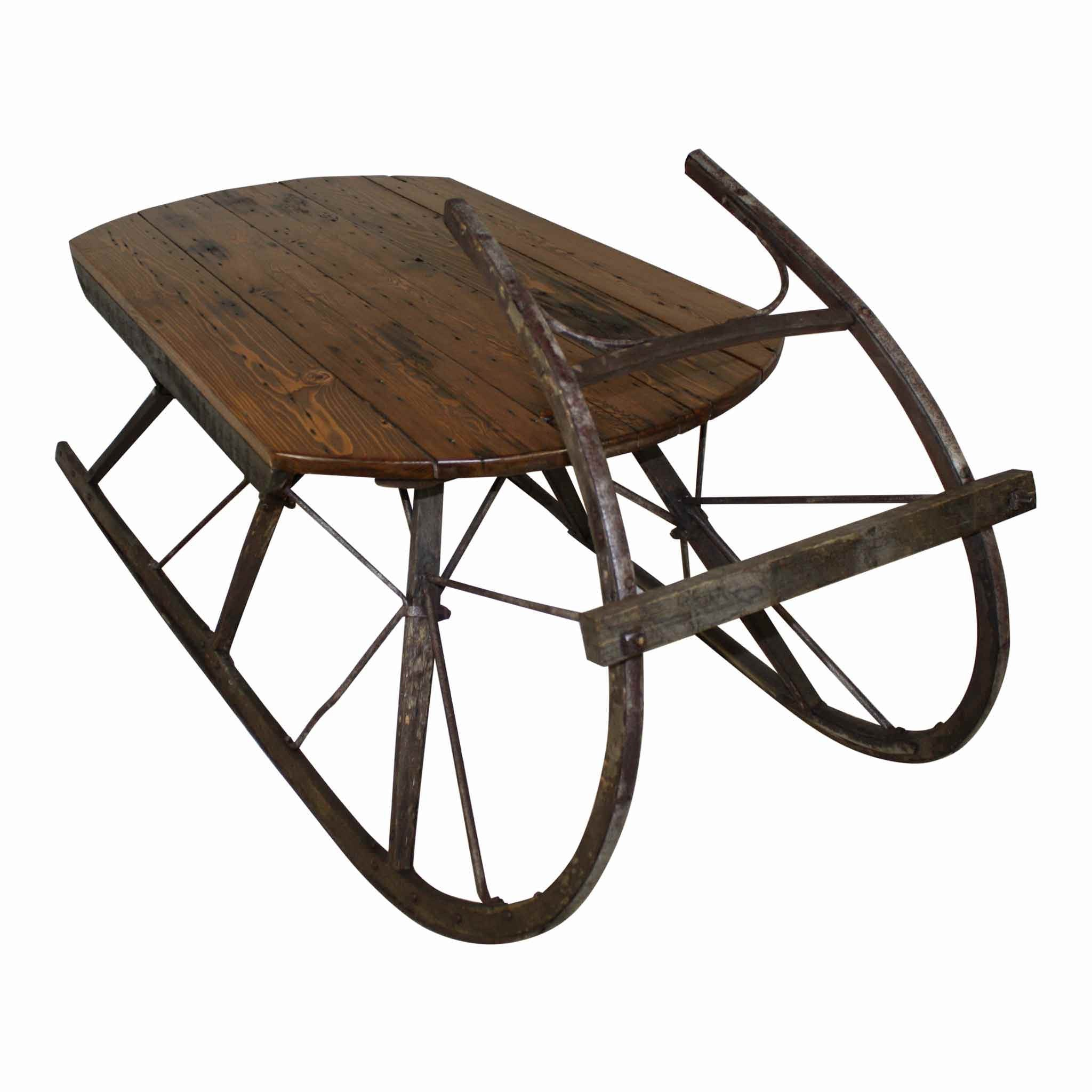 Sleigh Coffee Table Ski Country Antiques Home