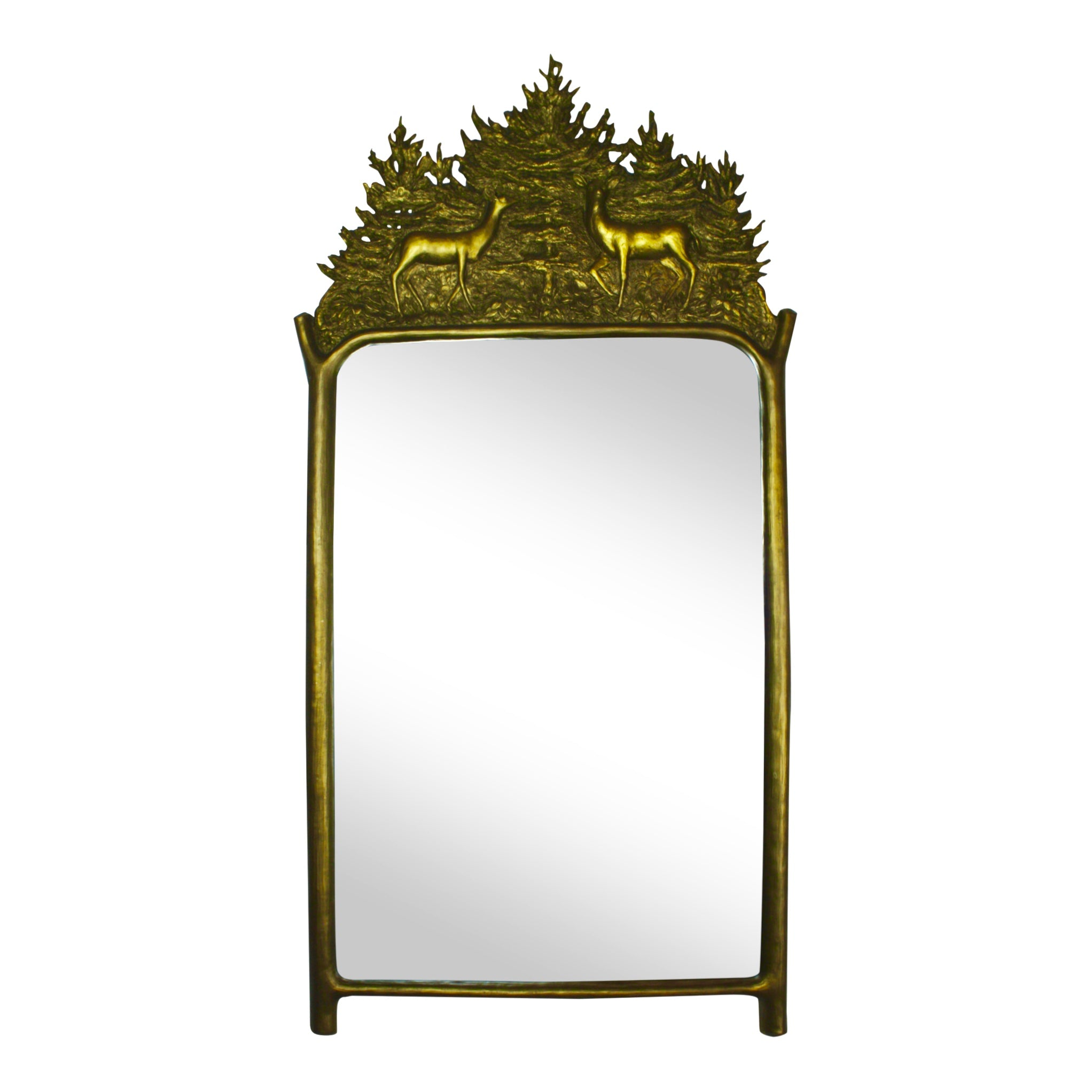 Carver's Guild Mirror with Bronze Leaf Finish