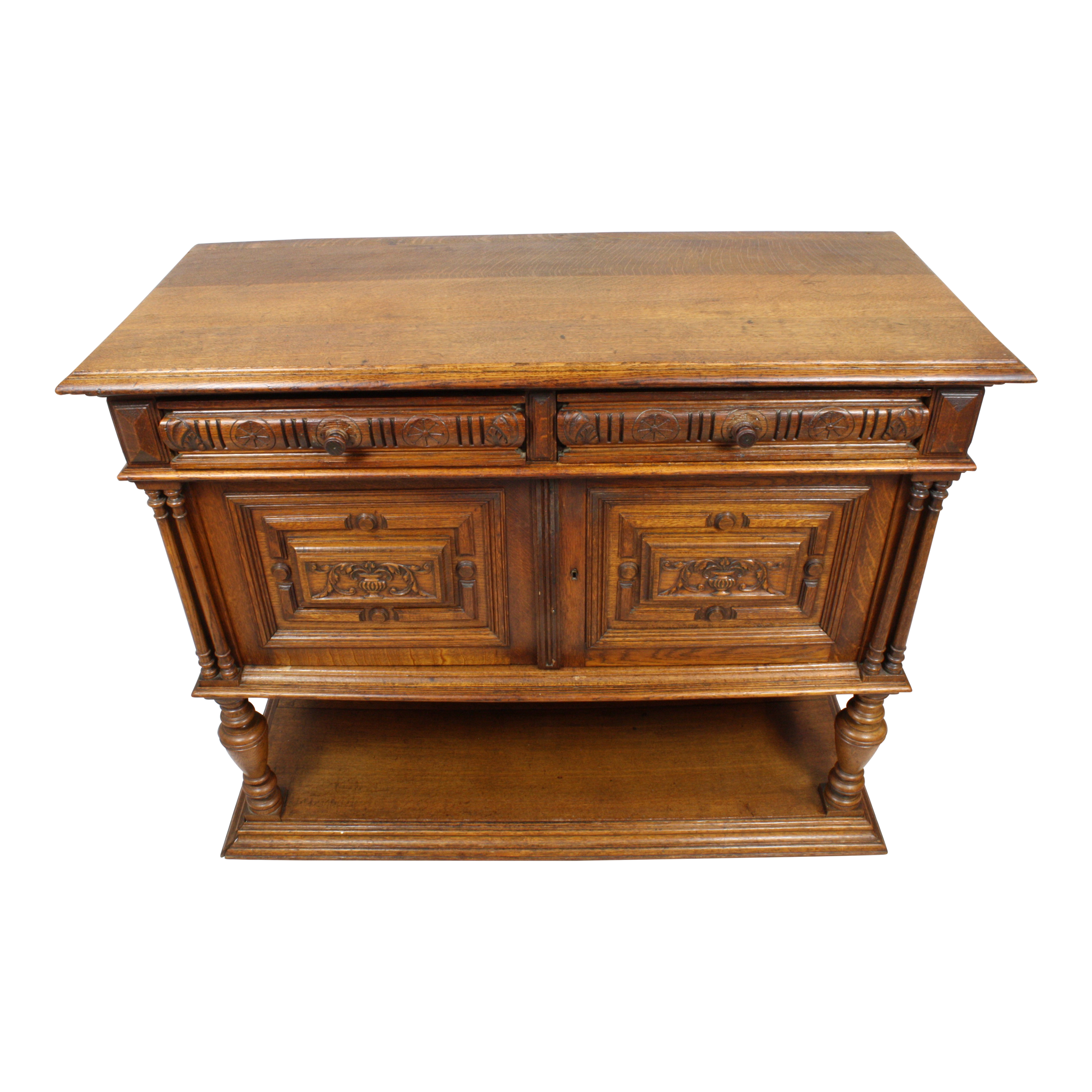 French Oak Sideboard/Server with Lower Shelf