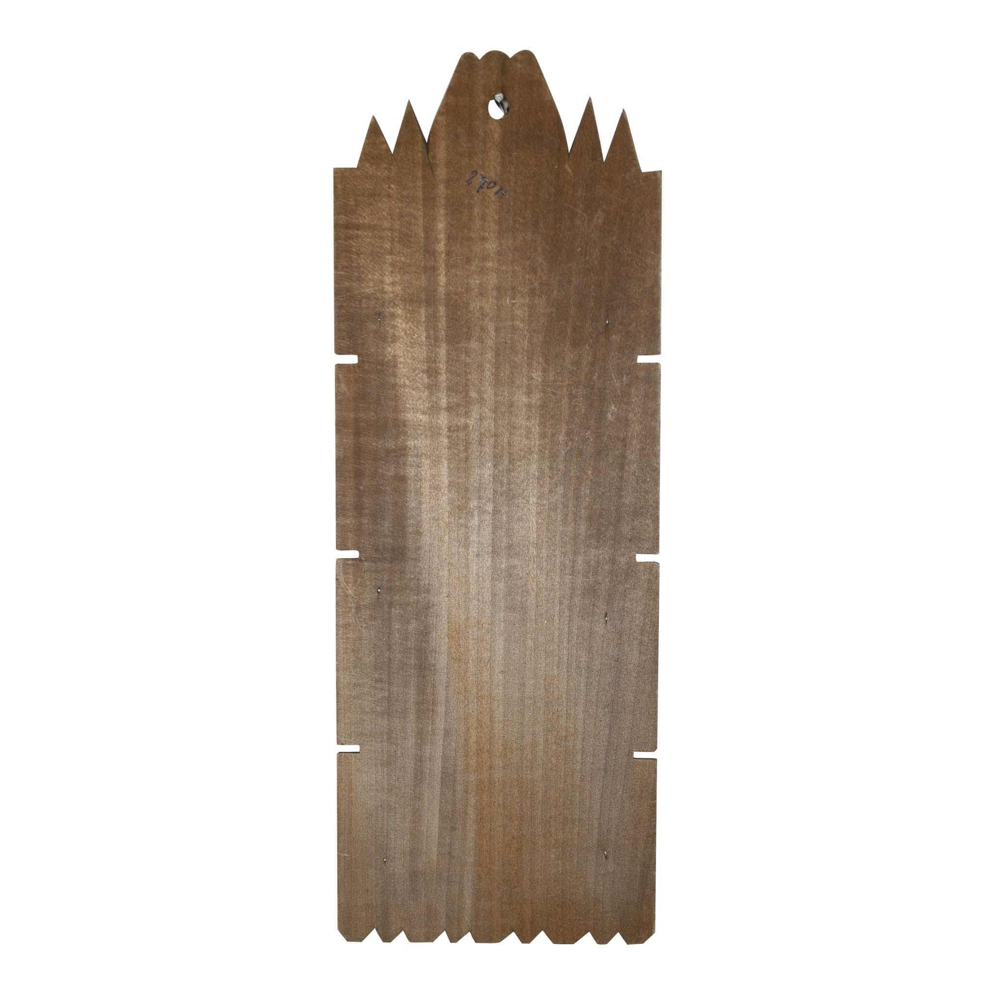 Carved Wood Wall Pocket