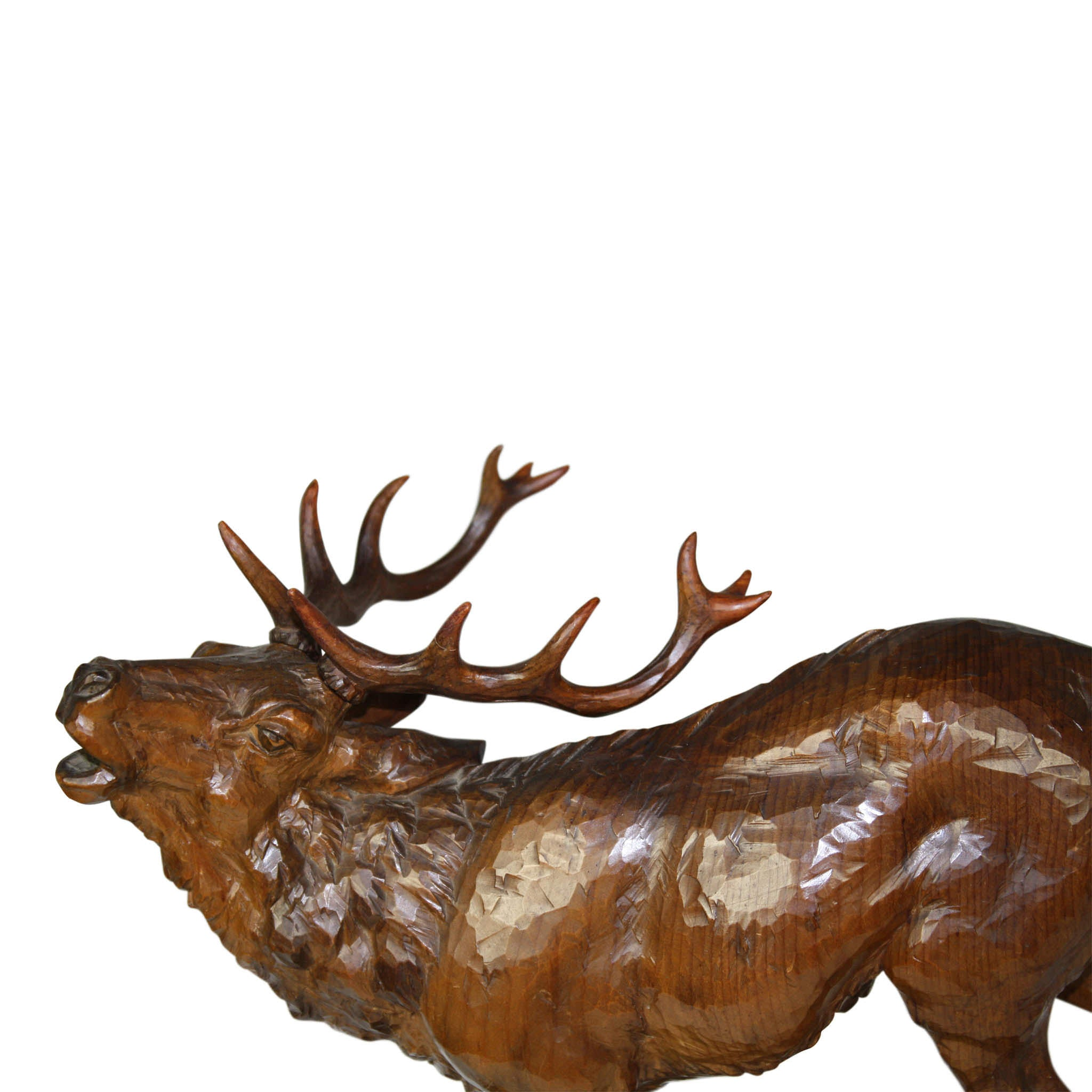 Carved Elk Statue