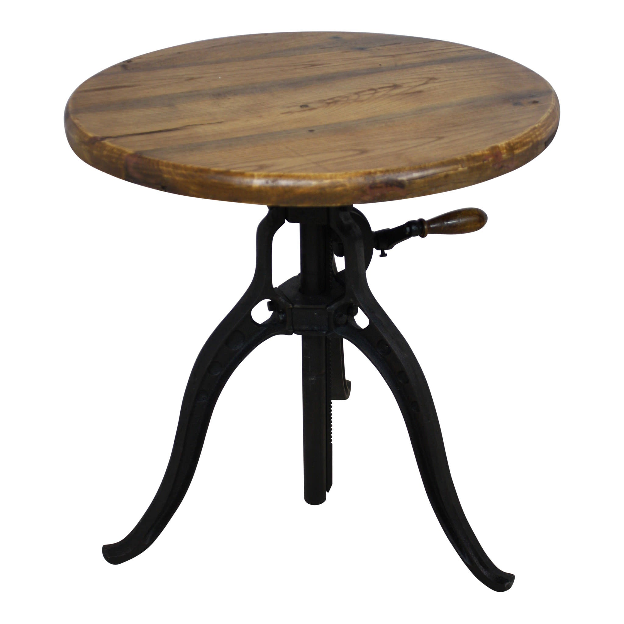 Iron Gate Table With Wood Top