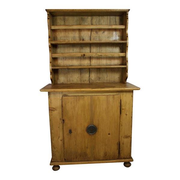 Pine Hutch with Plate Rack
