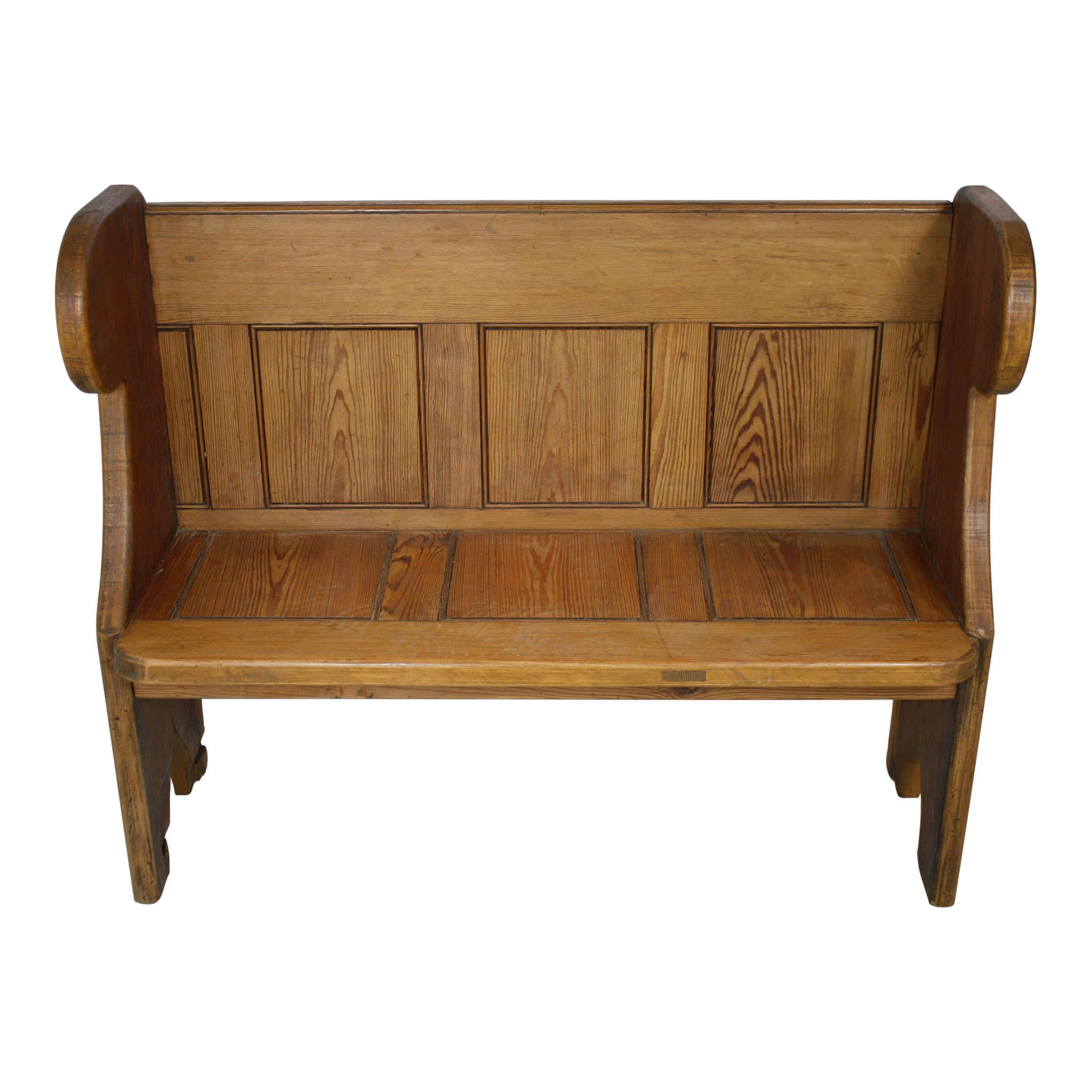 English Pine Church Pew