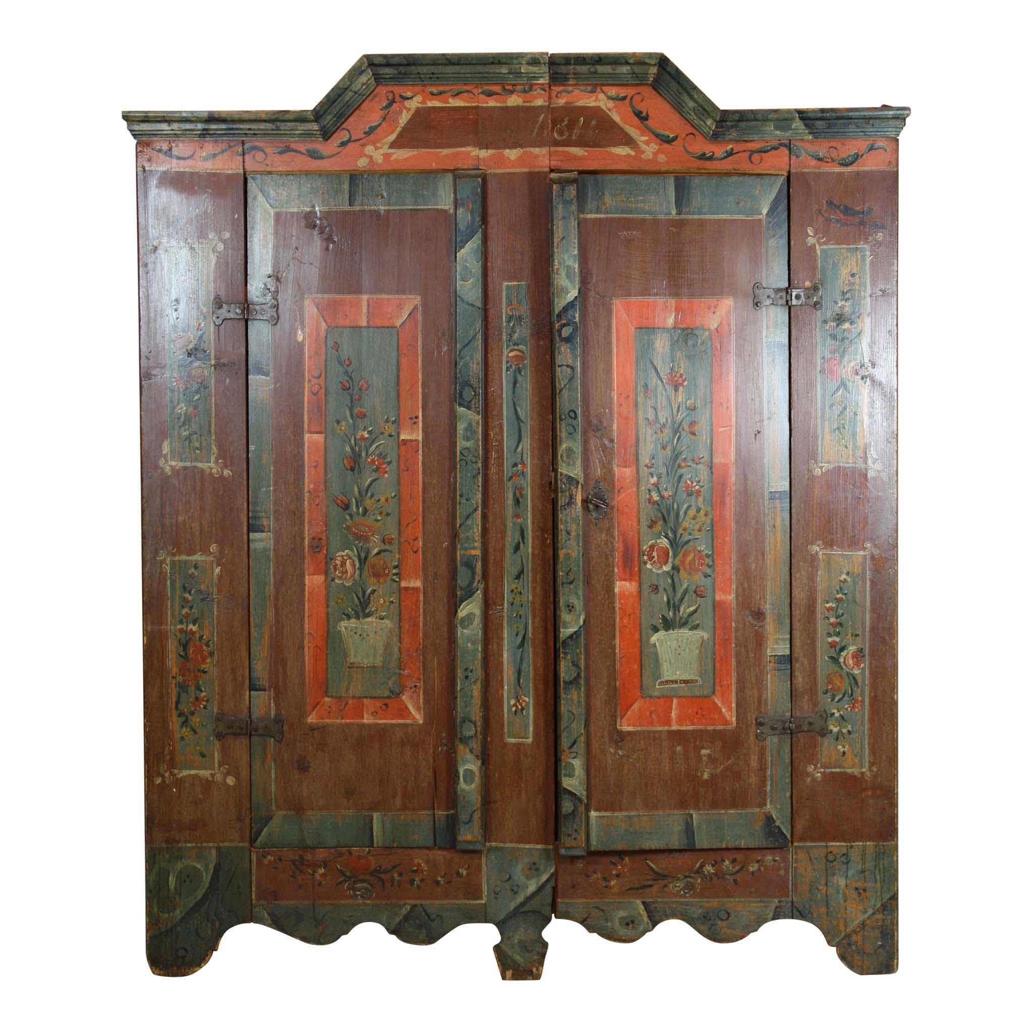 Superbe Swiss Painted Armoire