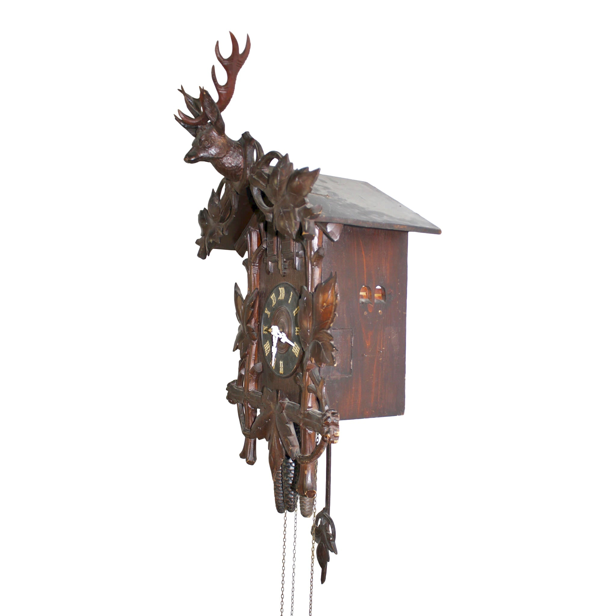 Red Stag Cuckoo Clock