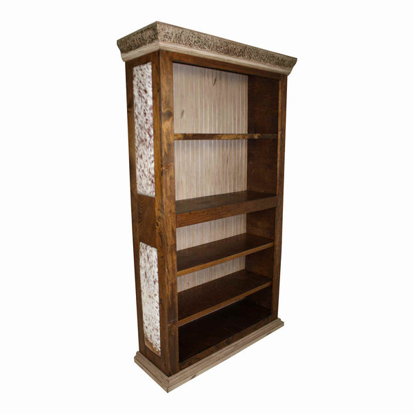 Cowhide Bookcase