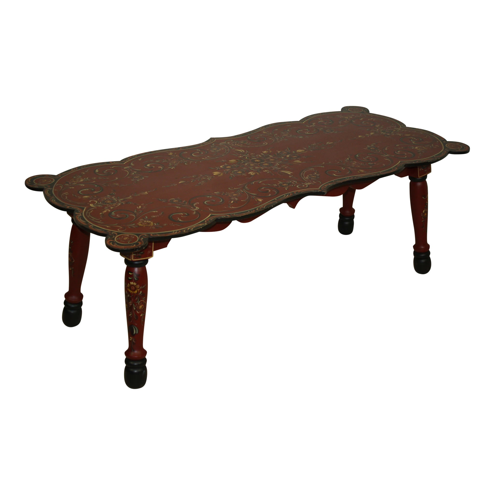 Dutch Painted Coffee Table Ski Country Antiques & Home