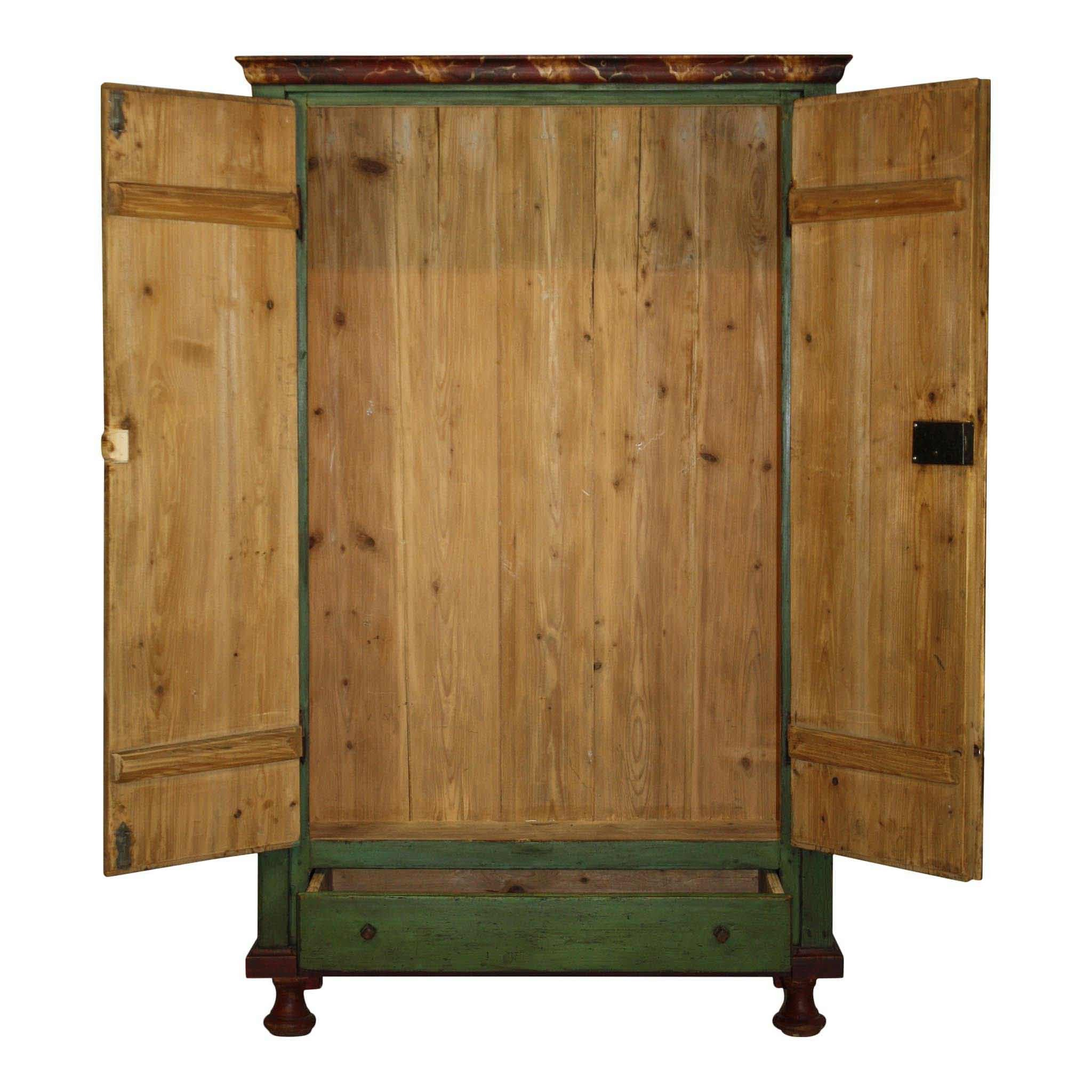 Painted Green Armoire