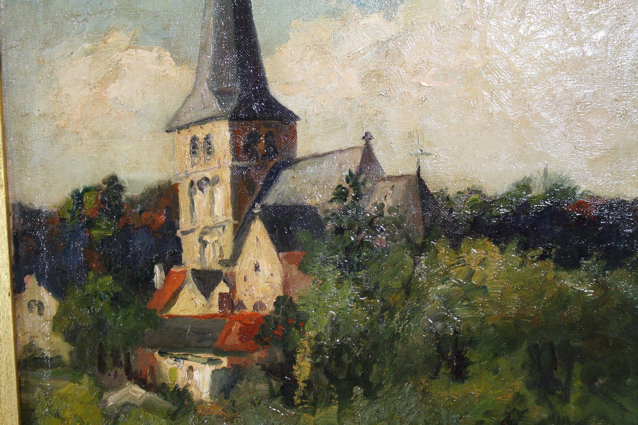Church Painting by Raymond Charlot