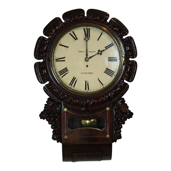English Mahogany Wall Clock