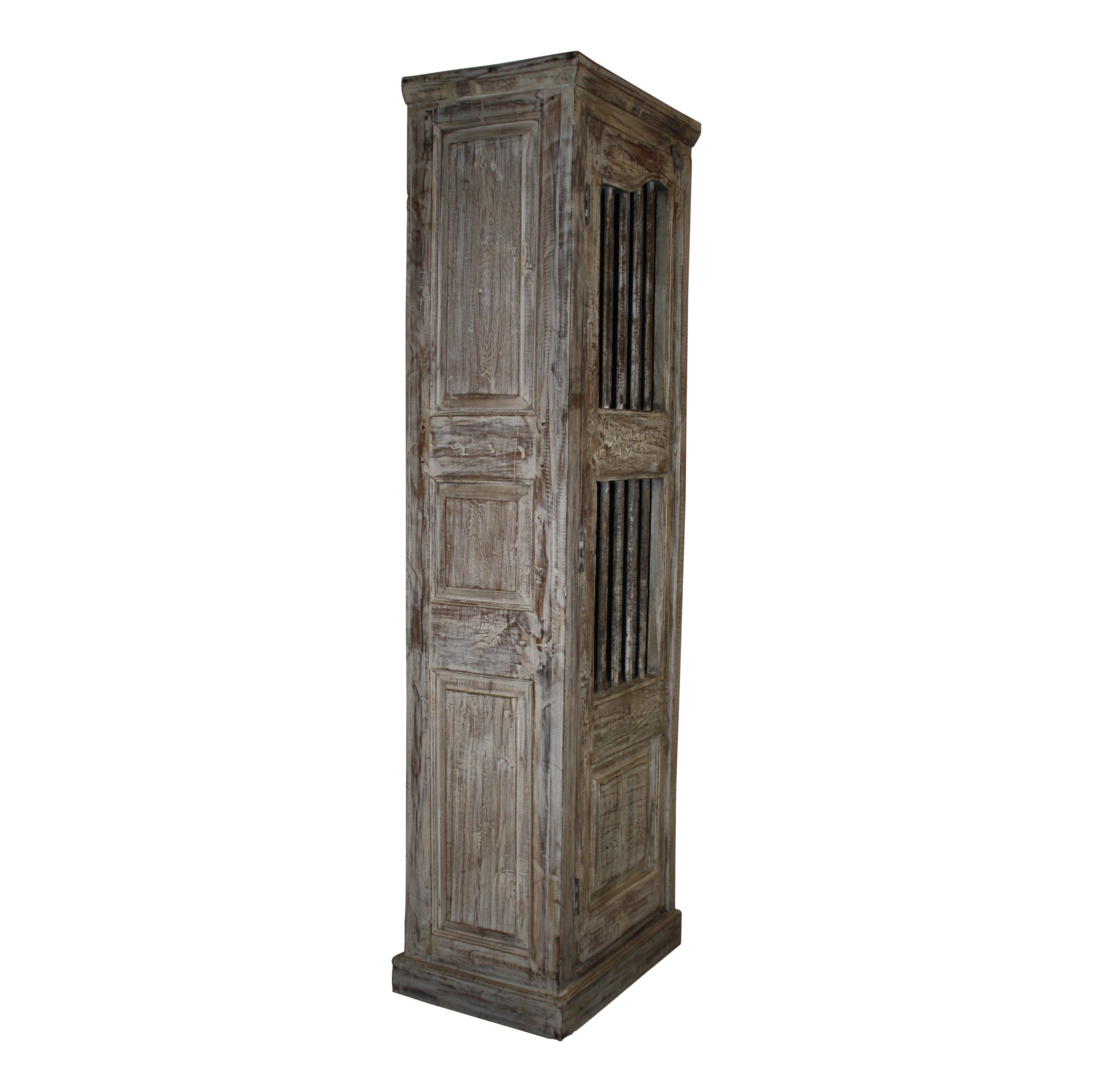 Narrow One Door Cabinet with Bars