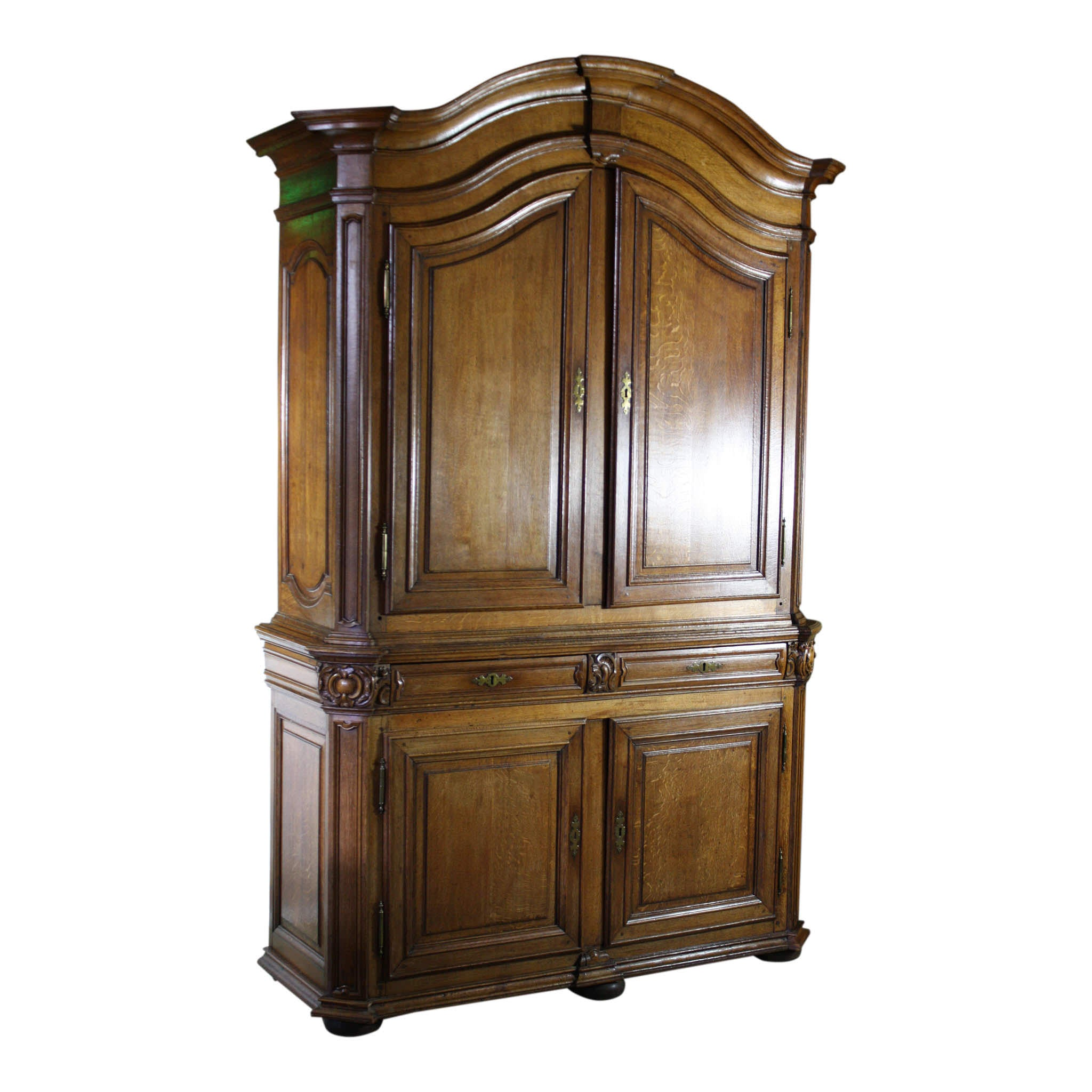French Oak Deux Corps Cabinet (1stdibs)
