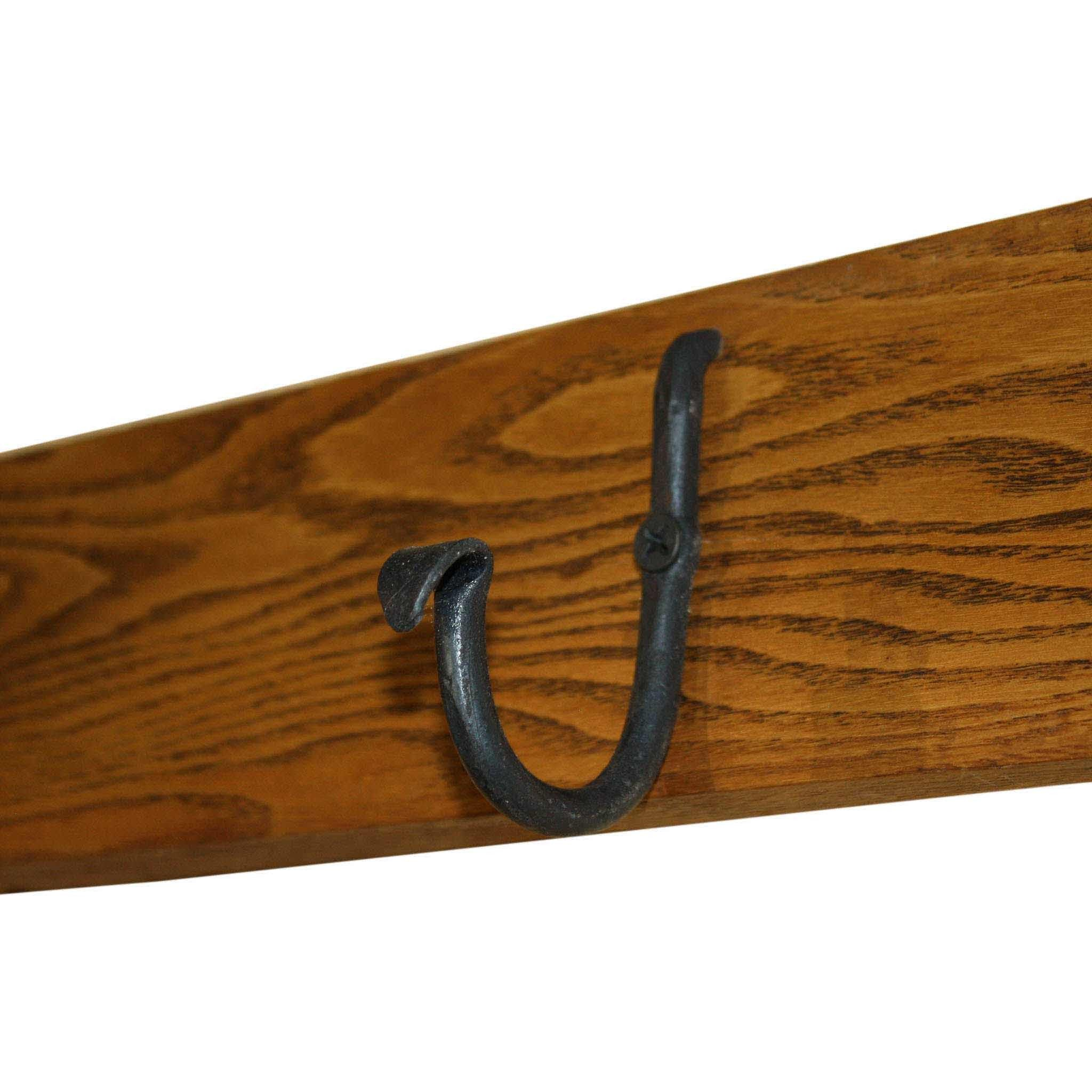 Ski Wall Hook with Hand Forged Hooks