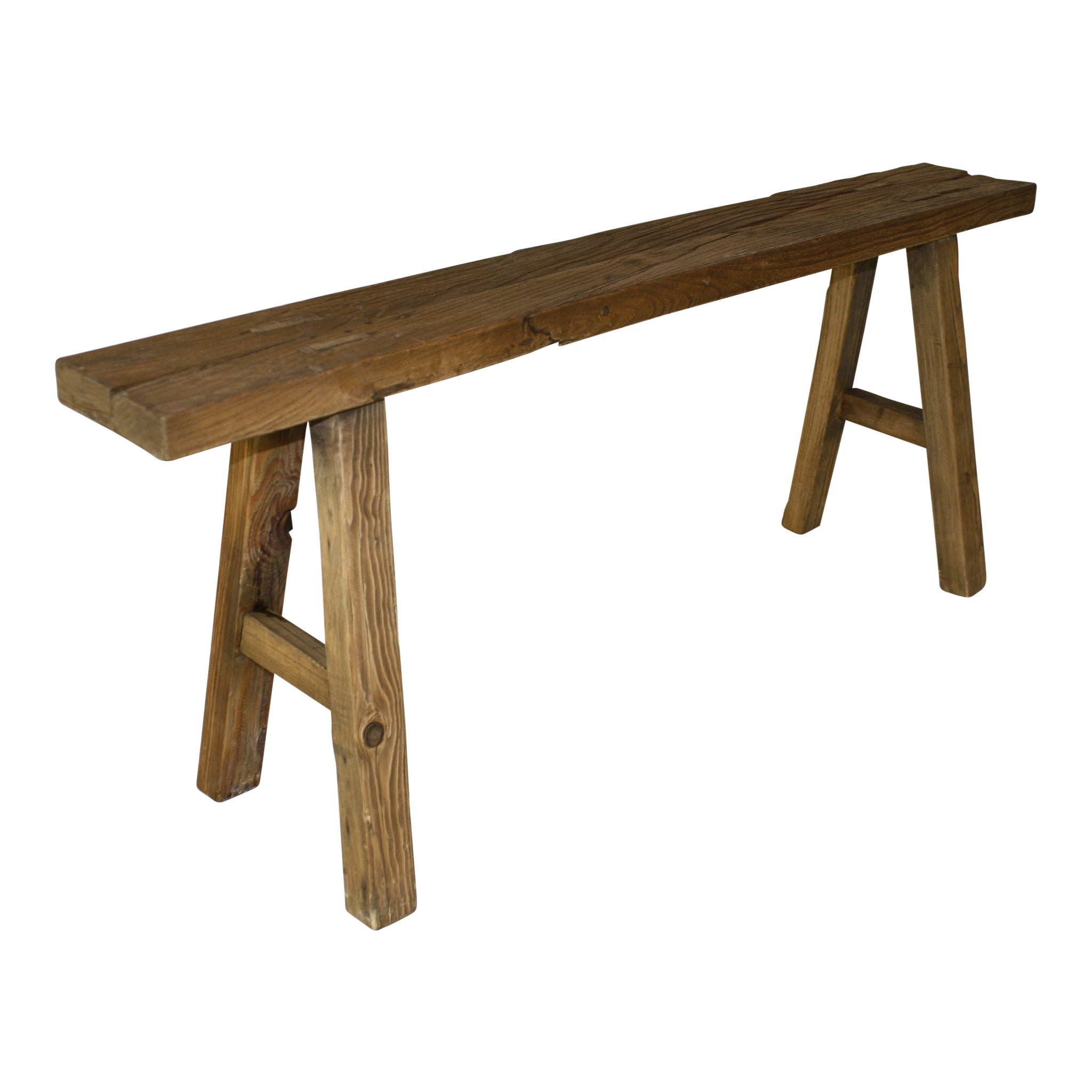Small mortise and tenon joint oak farm bench ski country antiques home