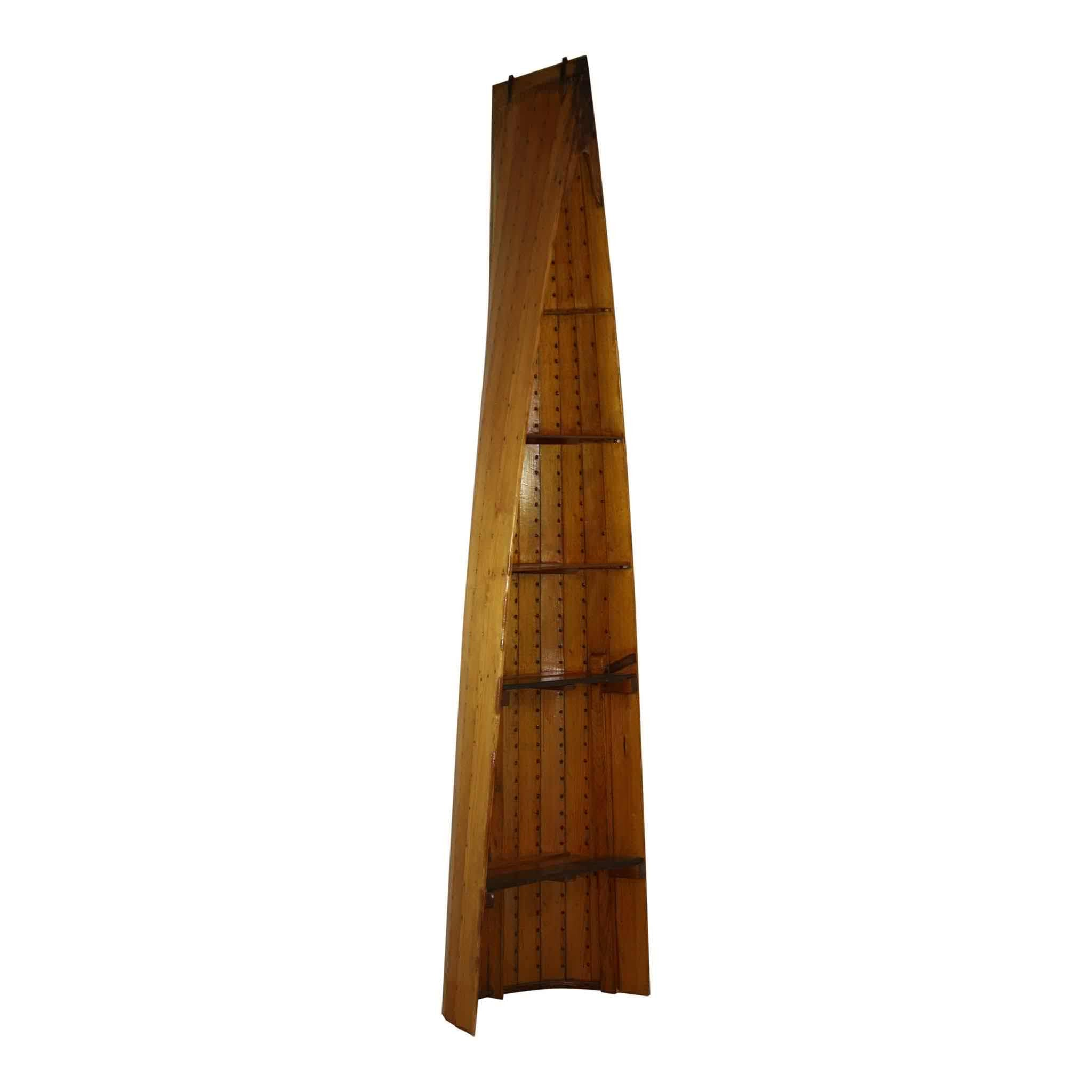 Wood Canoe Bookshelf
