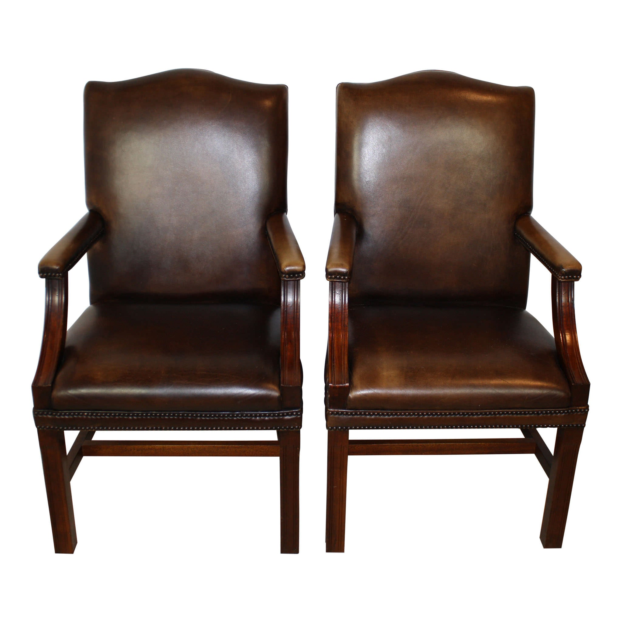 Fine English Leather Armchairs Set 2 Cjindustries Chair Design For Home Cjindustriesco