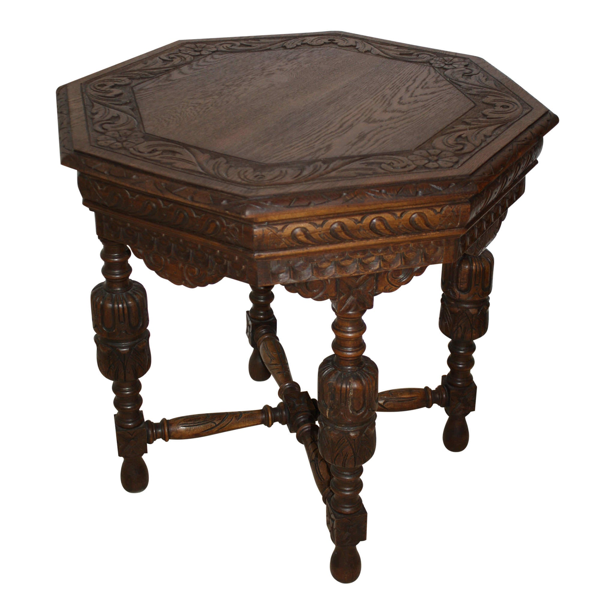 Belgian Octagon Table Ski Country Antiques & Home