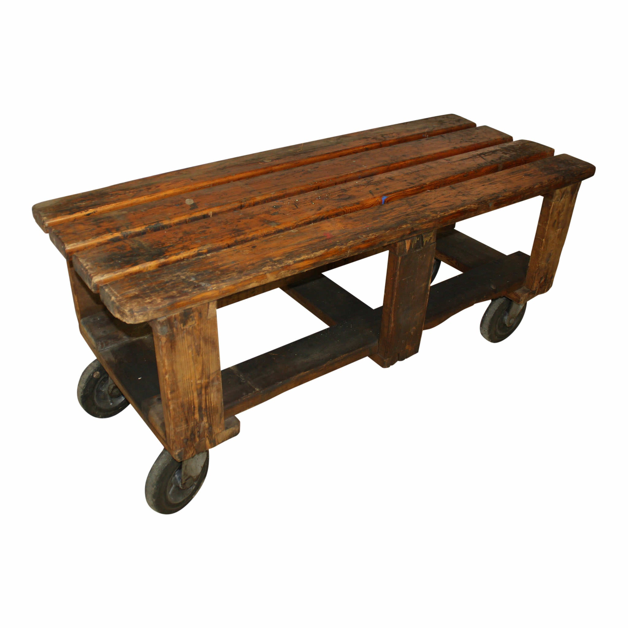 Industrial Wood Factory Cart