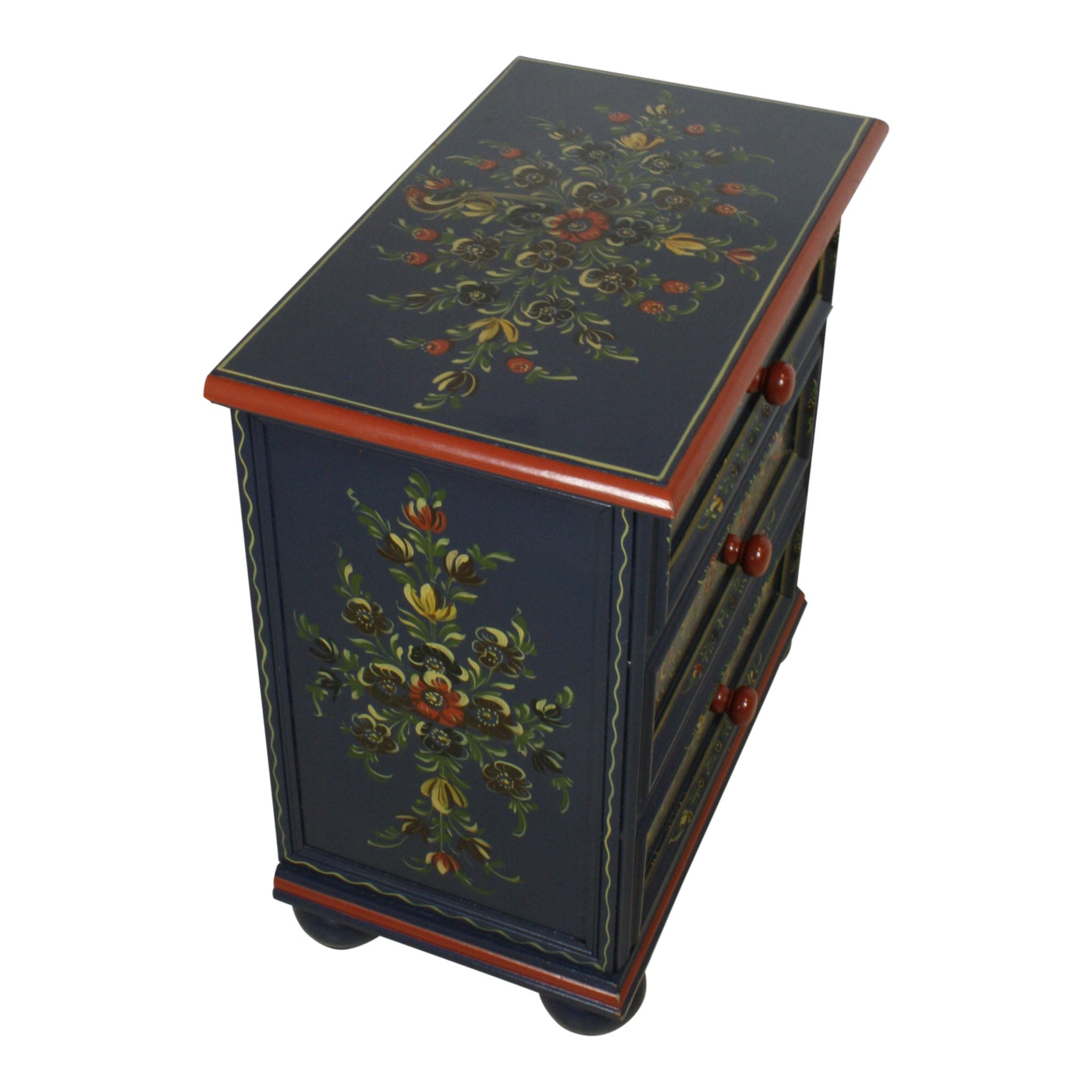 Dutch Hand Painted Small Three Drawer Dresser