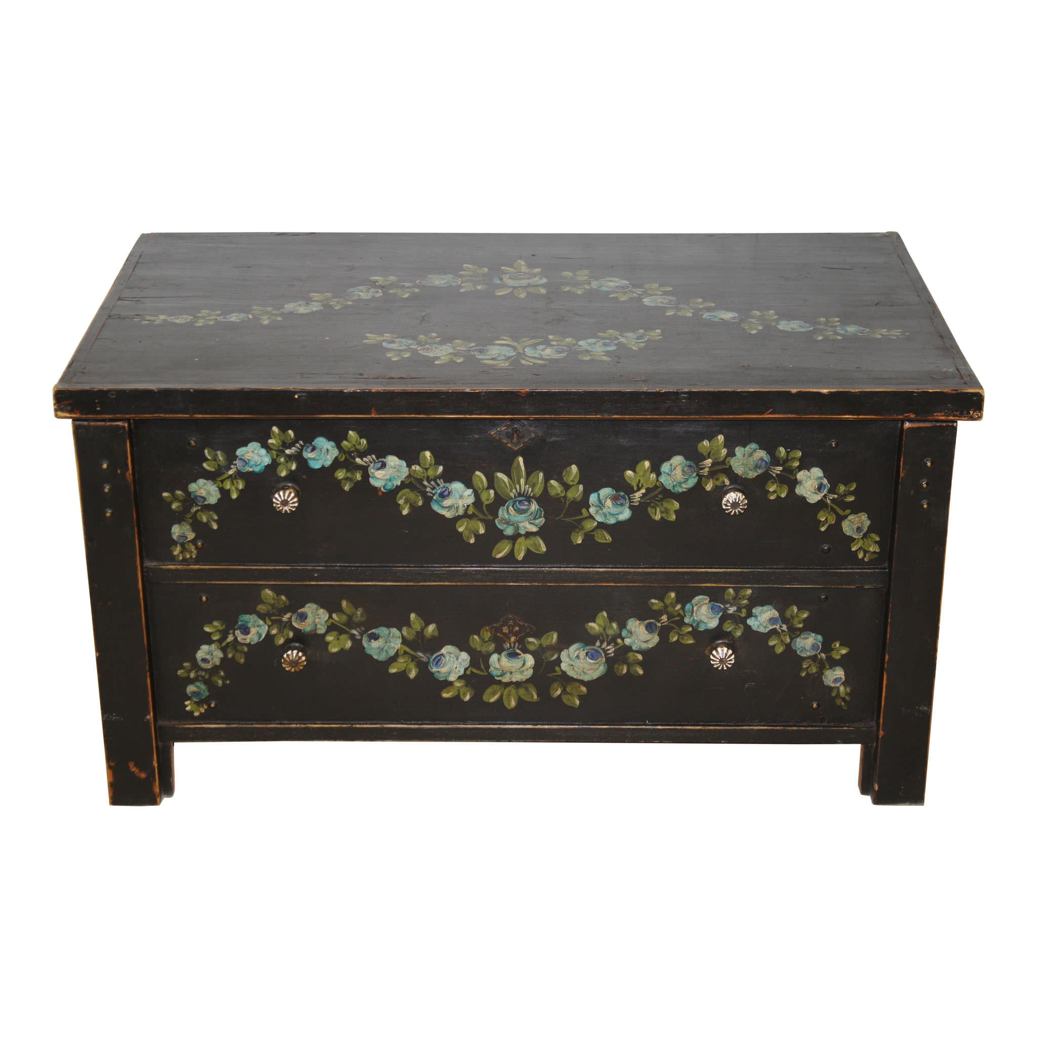 Hope Chest with Floral Painting