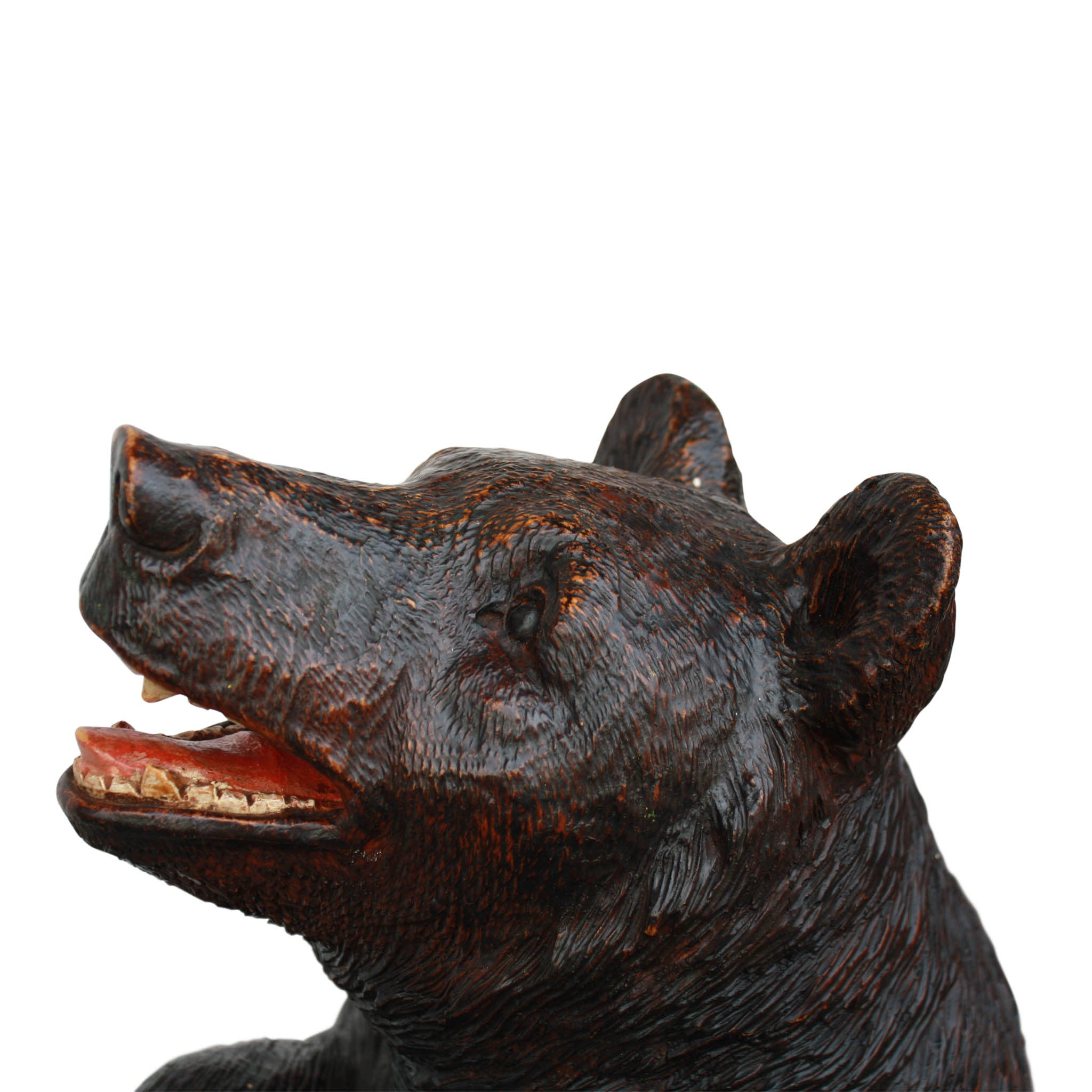 Black Forest Bear with Leaf Tray