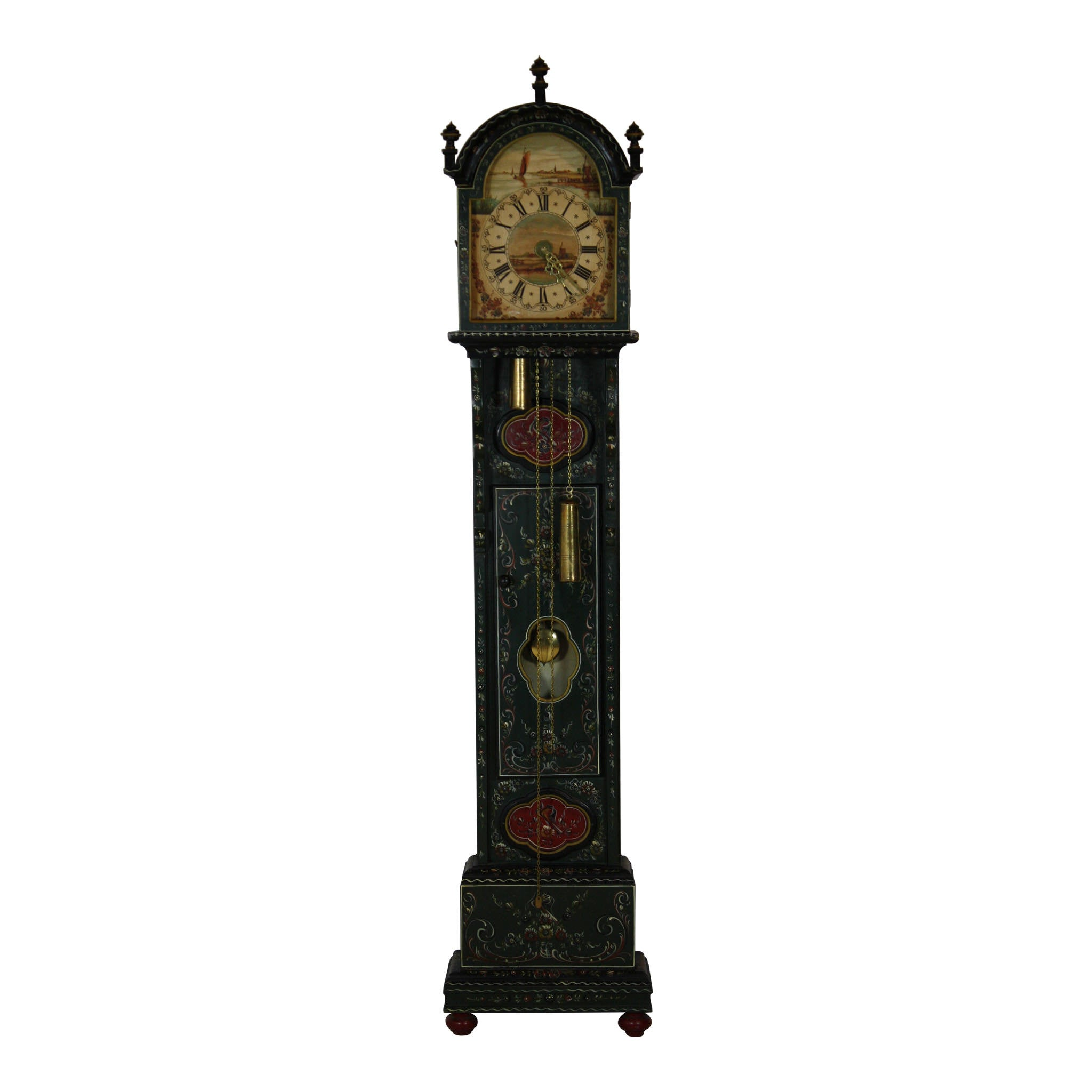 Dutch painted clock ski country antiques home dutch painted clock amipublicfo Image collections