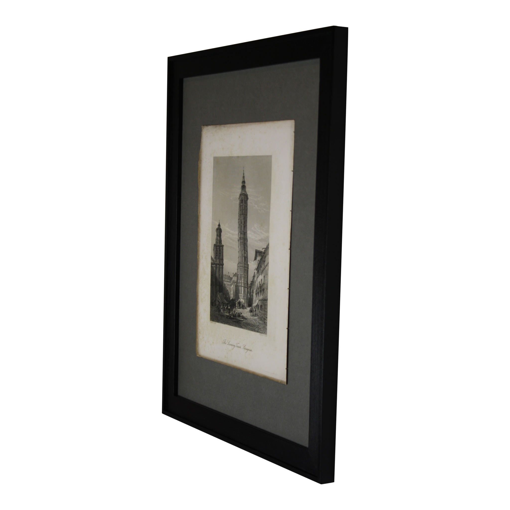 The Leaning Tower, Saragossa Framed Picture