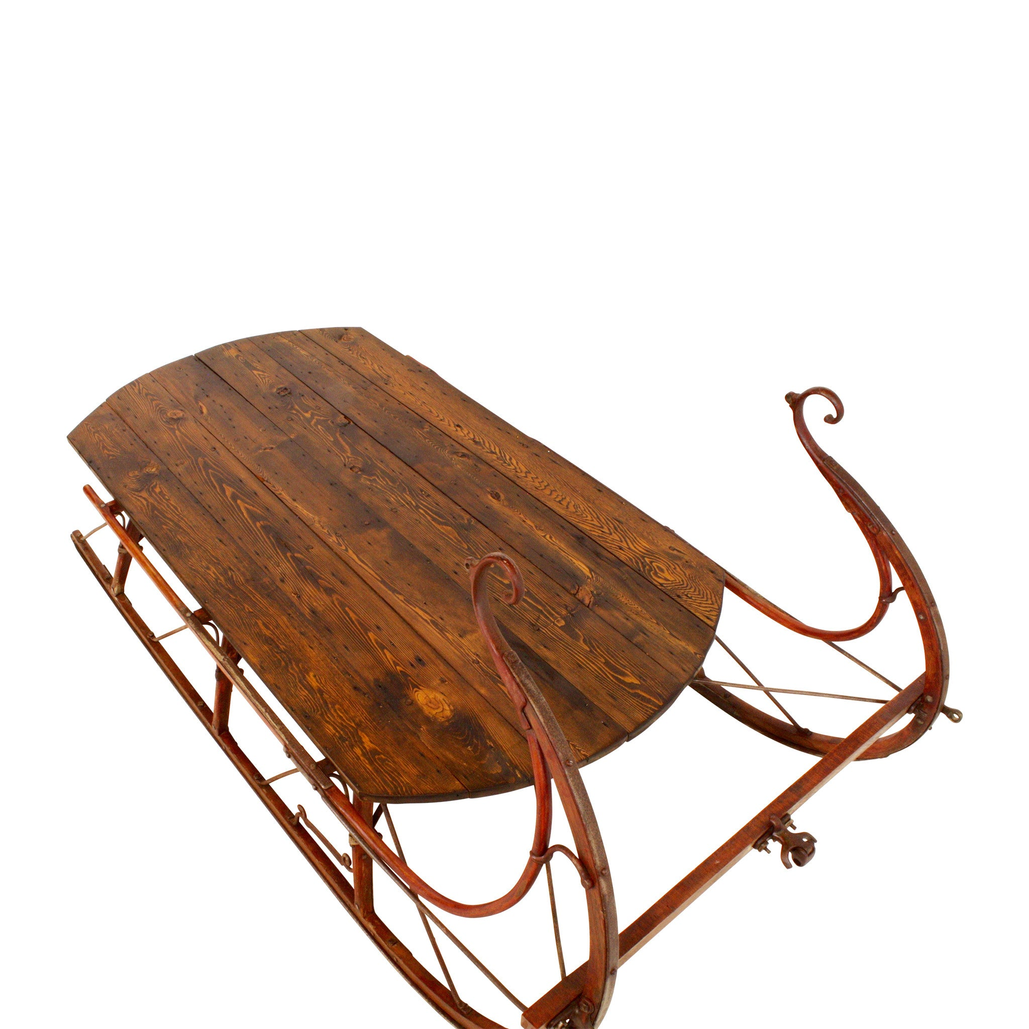 ski-country-antiques - Large Sleigh Coffee Table