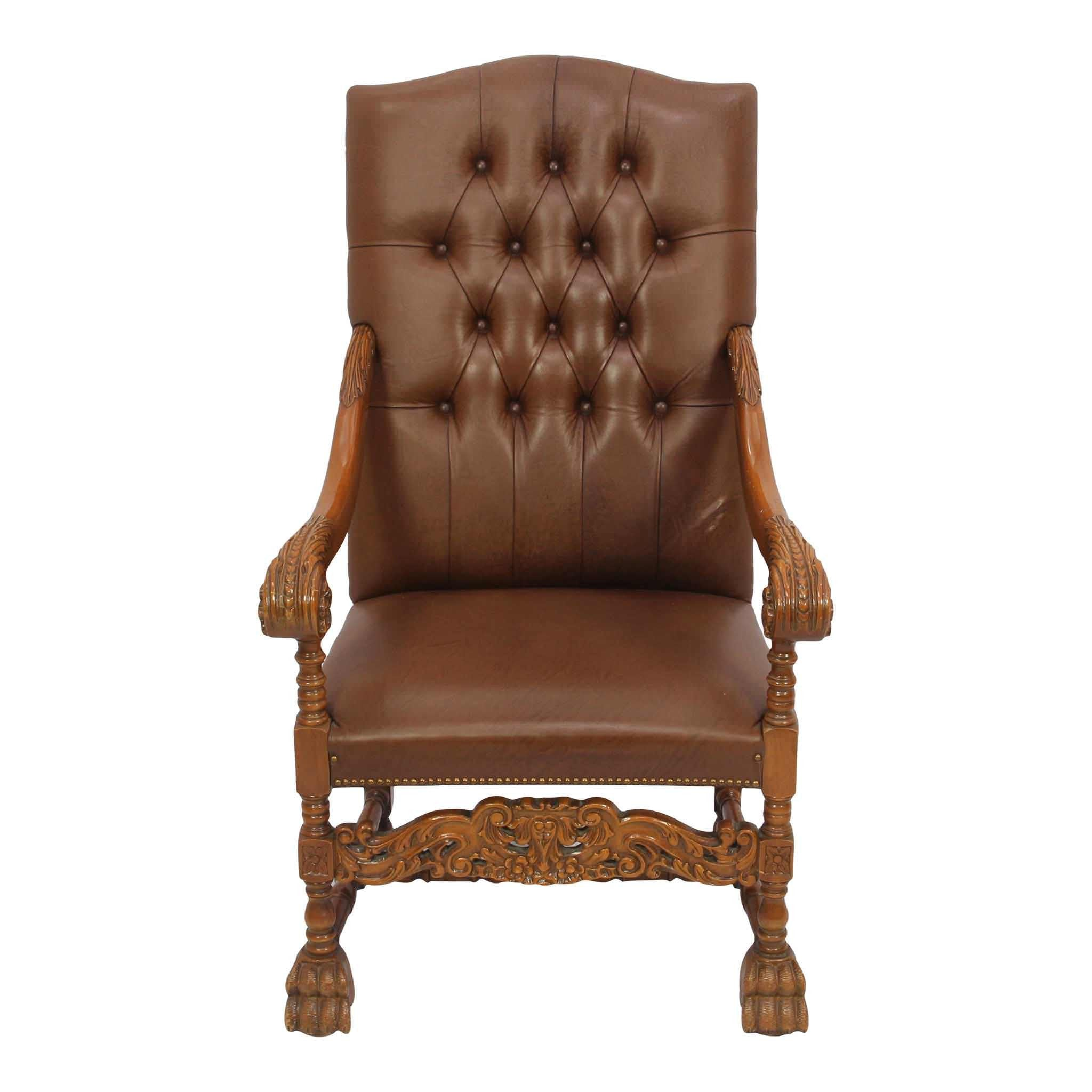 Tufted Leather Armchair