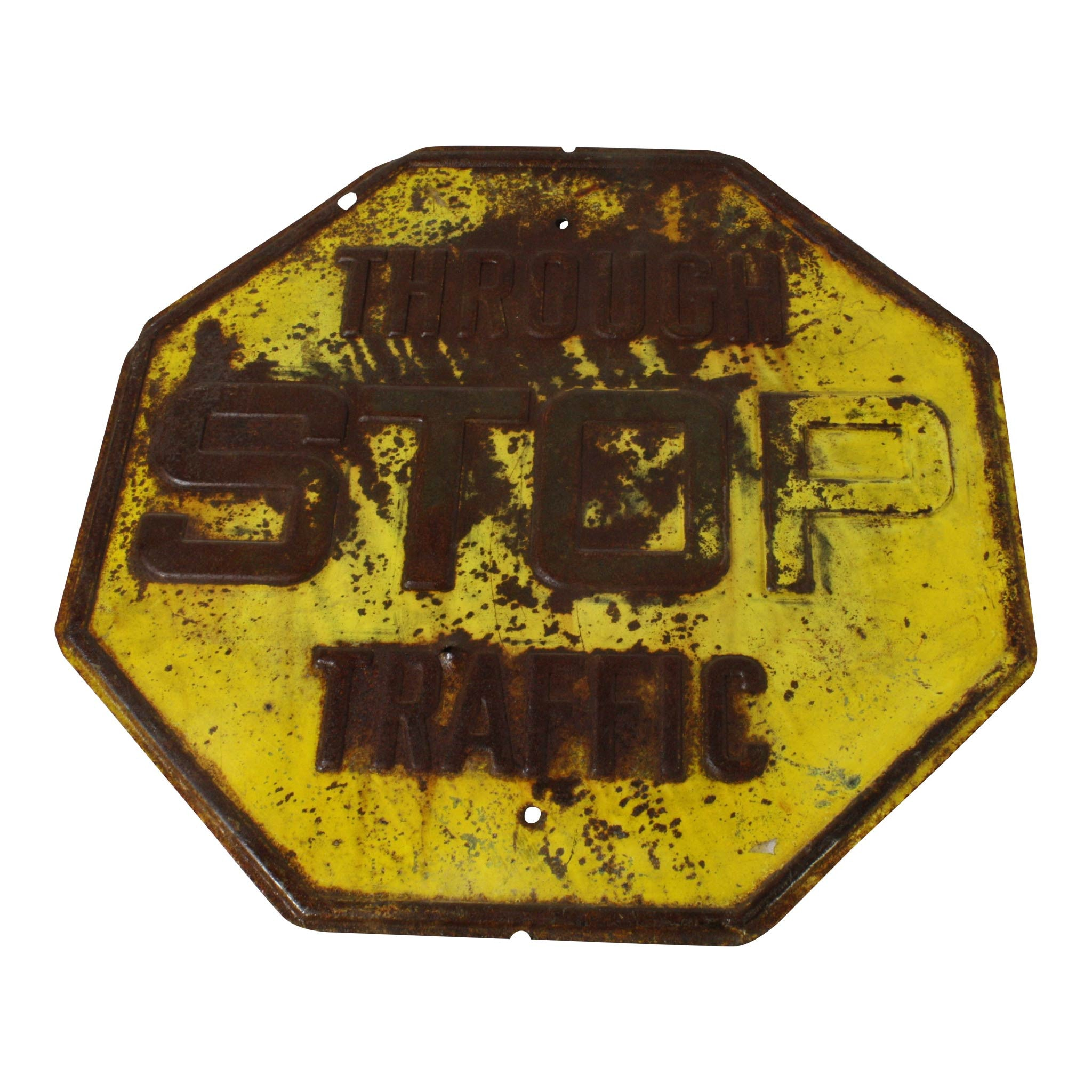 Vintage Yellow Stop Sign