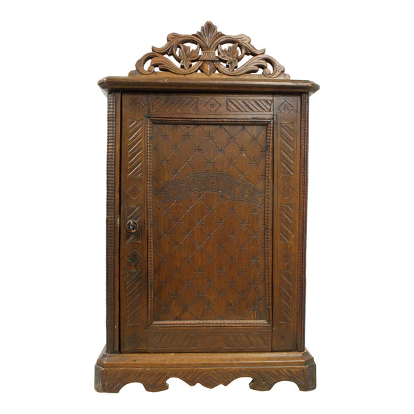 Antique Wooden Apothecary Cabinet