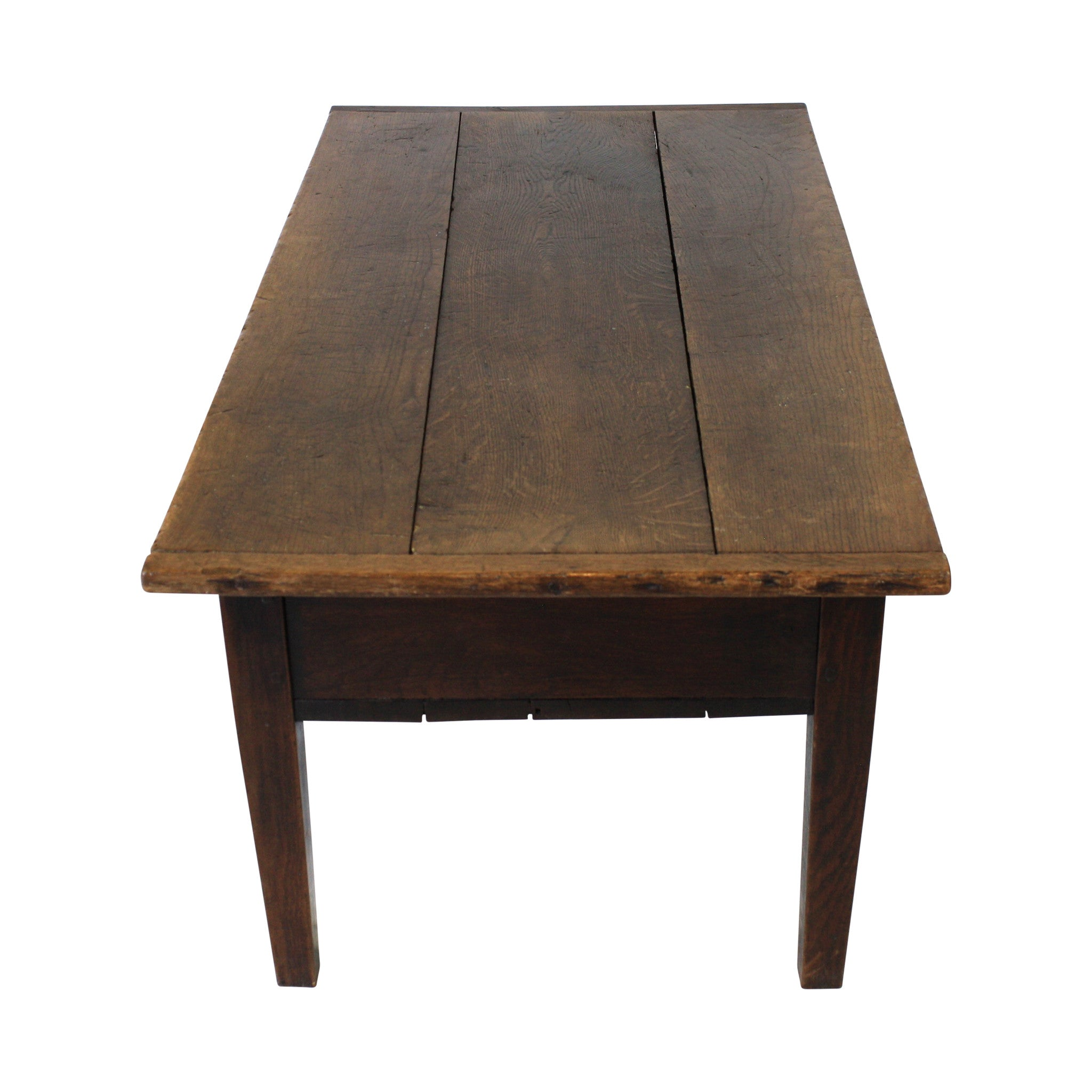 ski-country-antiques - Oak Coffee Table with Storage