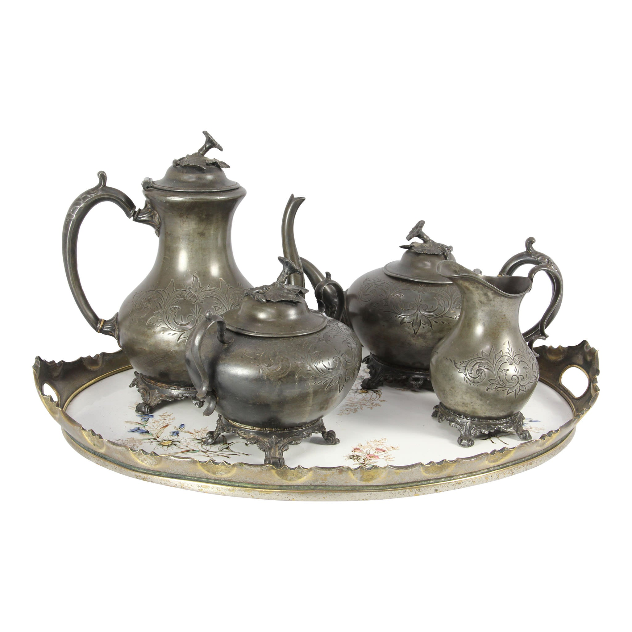 Pewter Serving Set