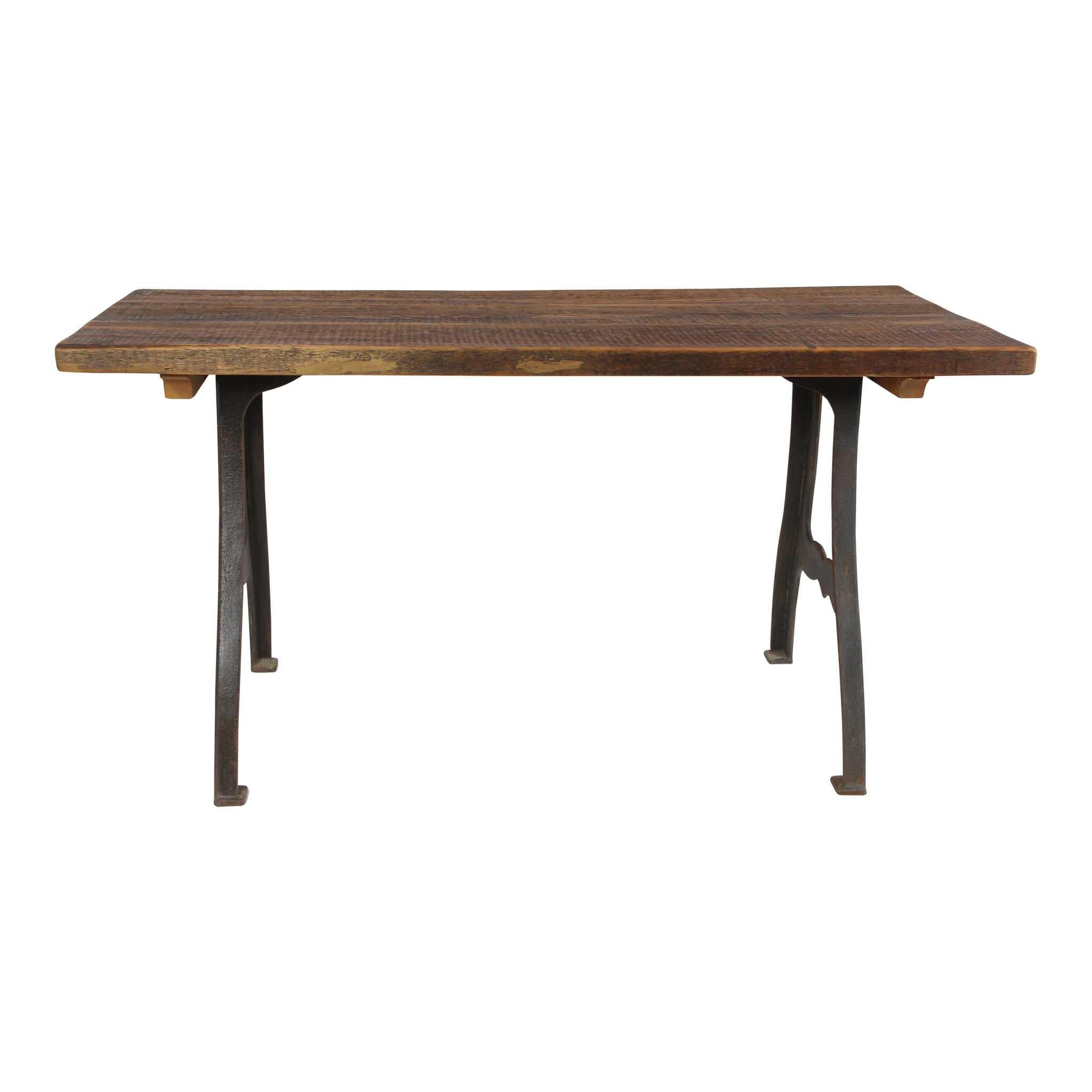 Pine Table With Metal Legs