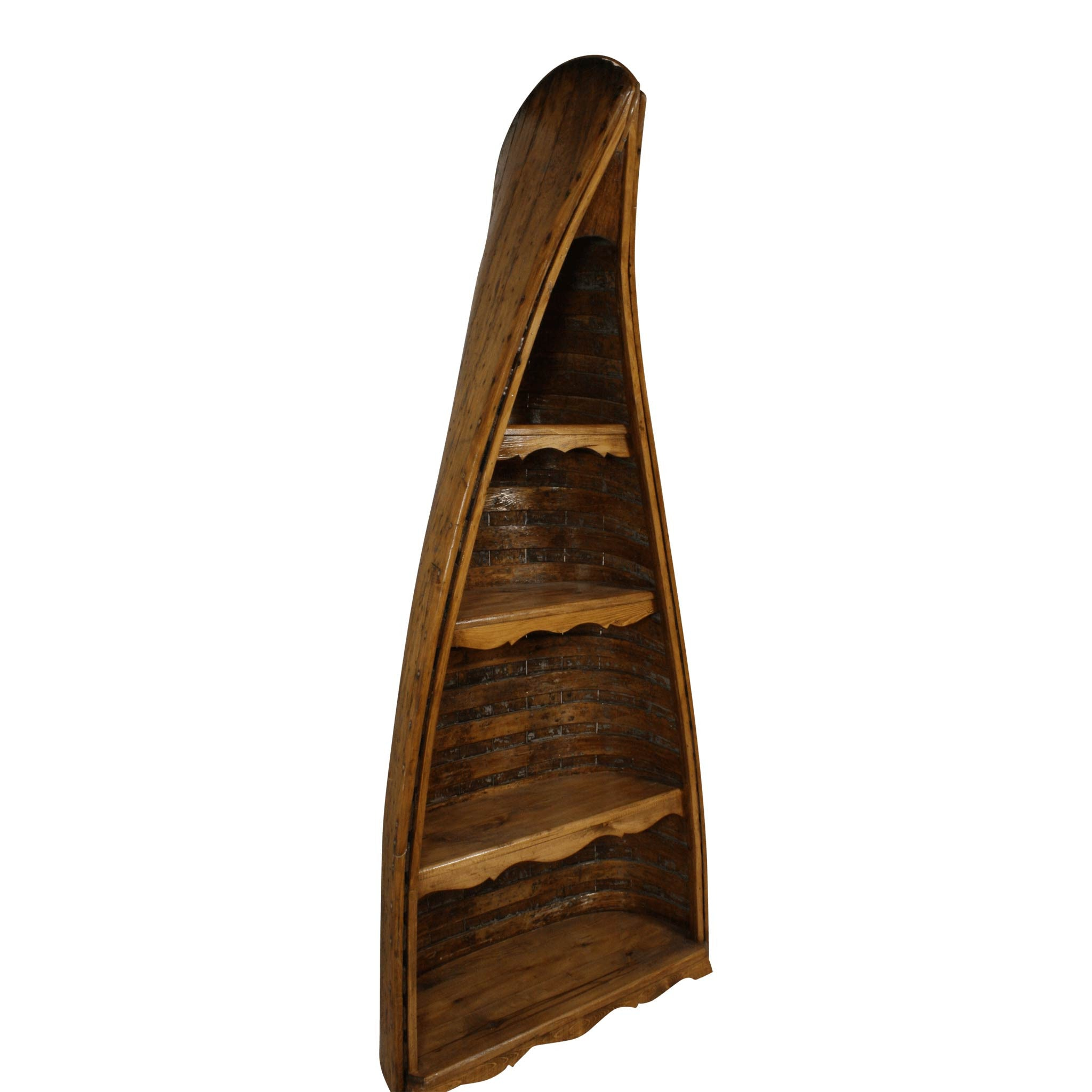 Canoe Bookshelf w/ 4 Shelves