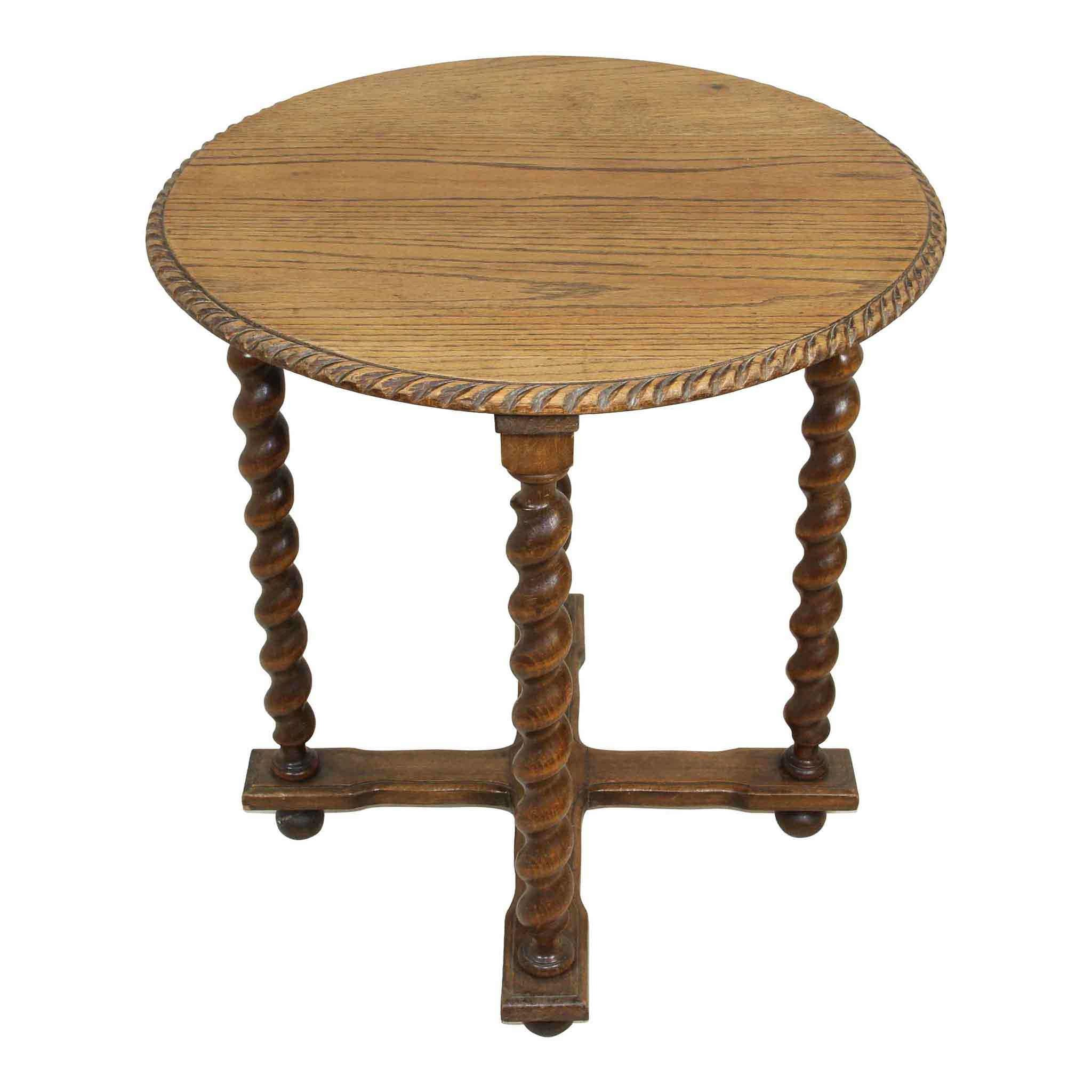 Round Table with Barley Twist Legs
