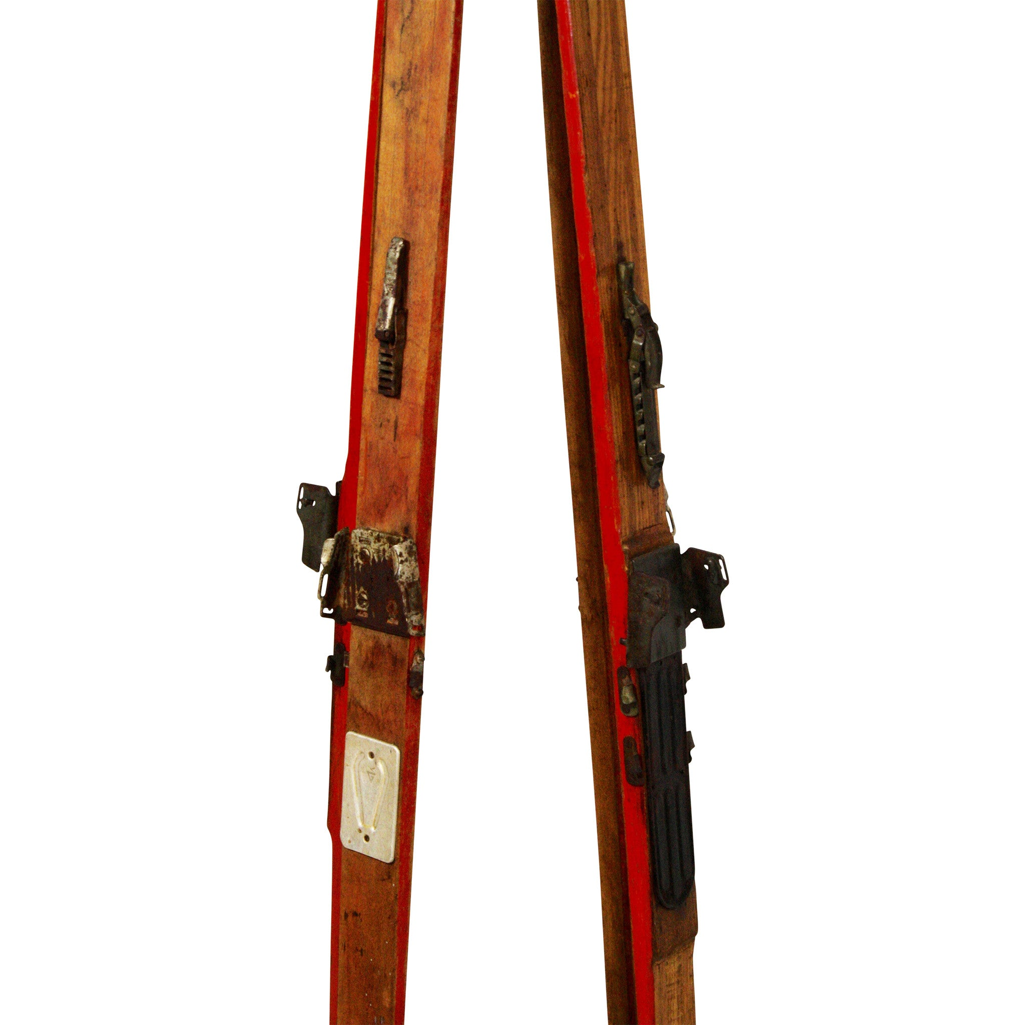 ski-country-antiques - Red Offset Ski Hall Tree