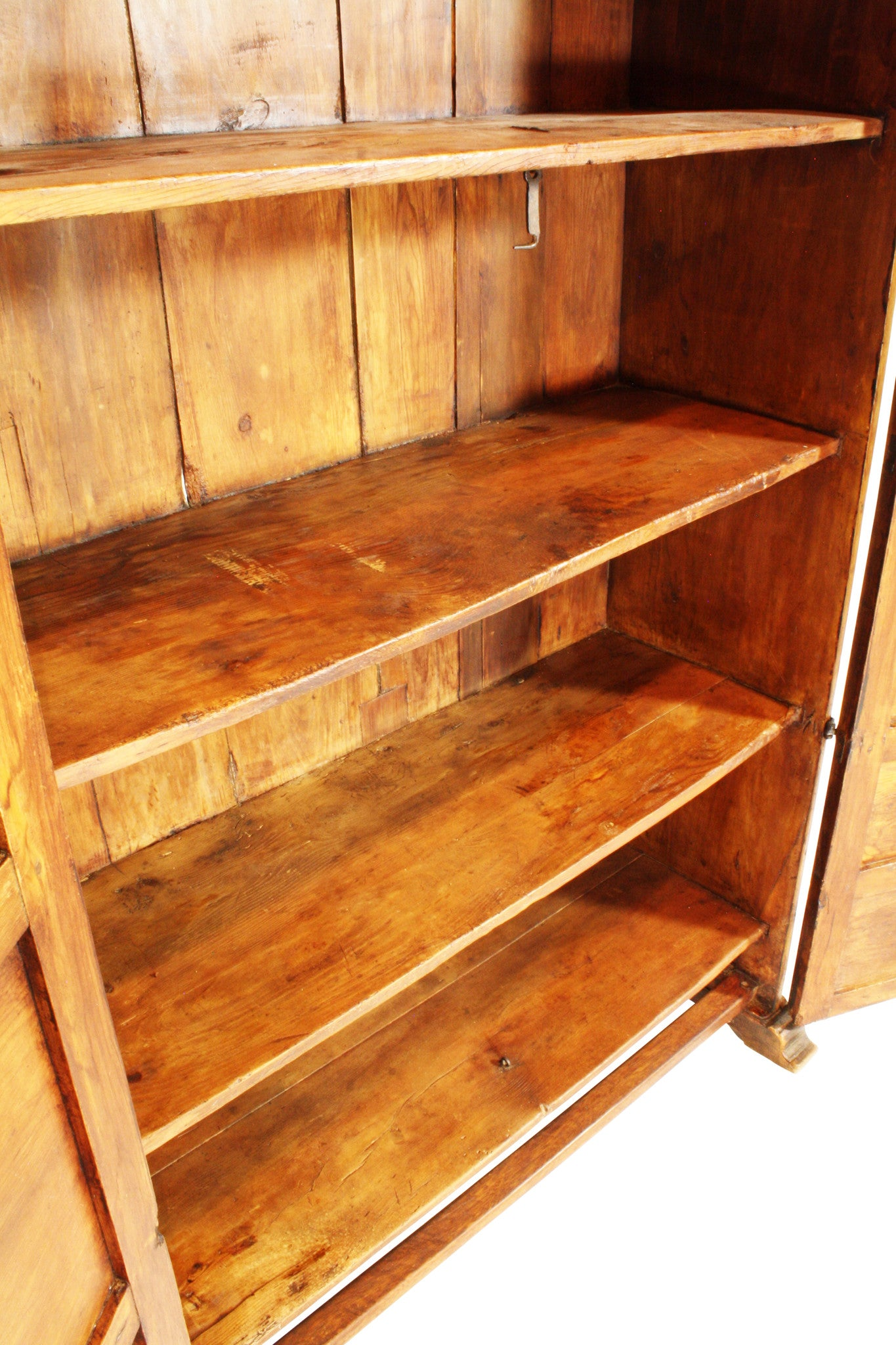 ski-country-antiques - Spanish Walnut & Oak Armoire with Shelves