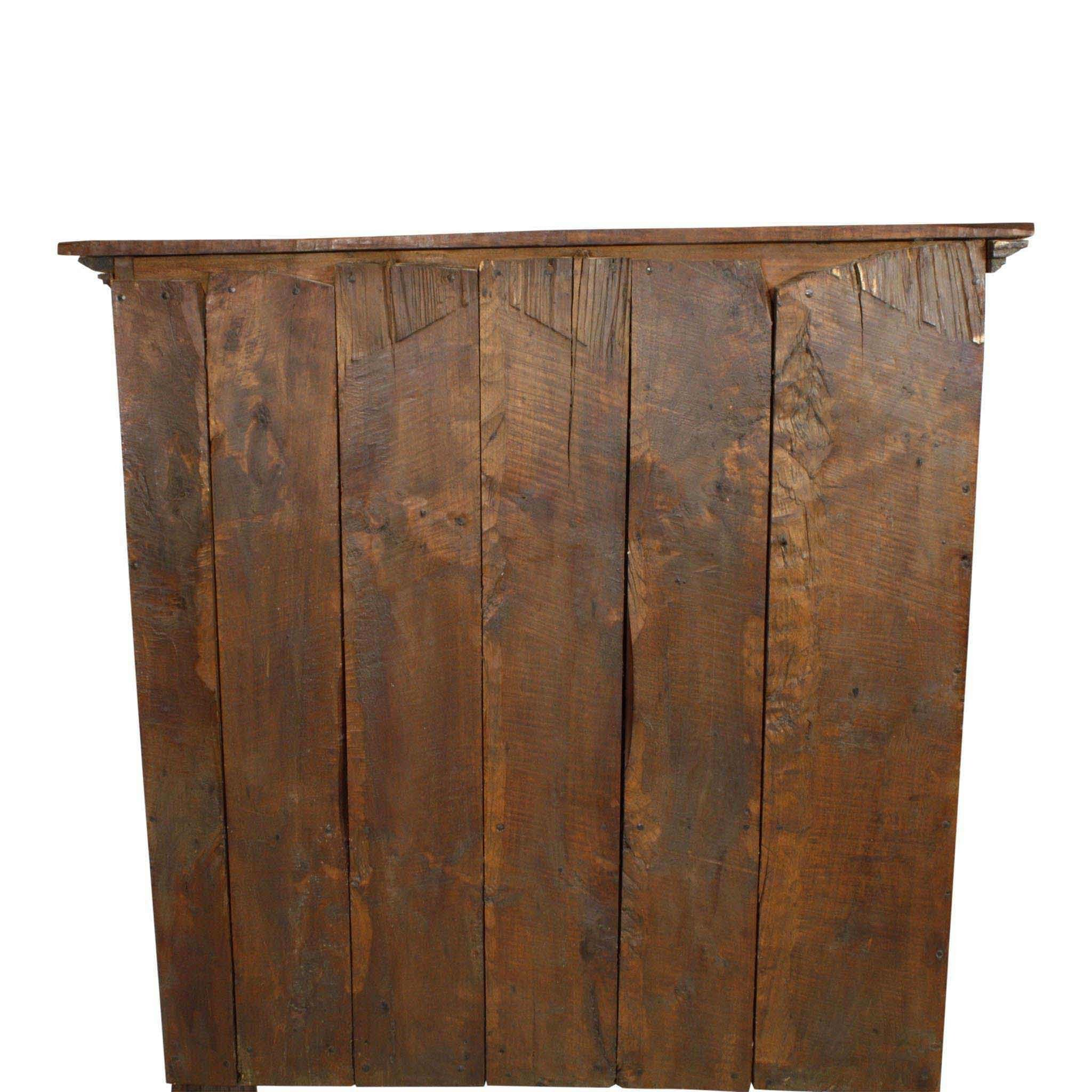 ski-country-antiques - Rustic Spanish Hand Hewn Hickory Cabinet